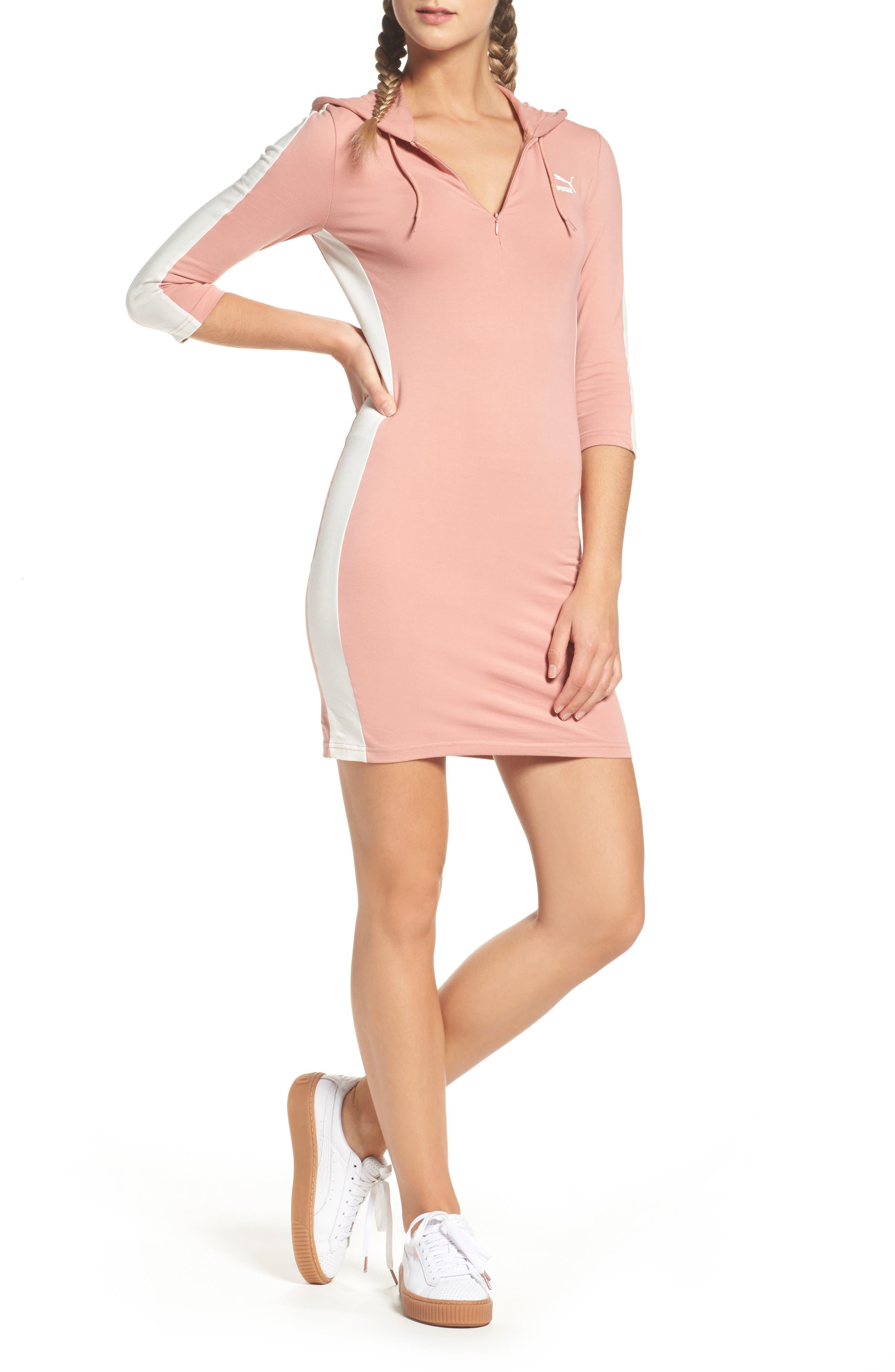 T7 Sweatshirt Dress,                             Main thumbnail 4, color,