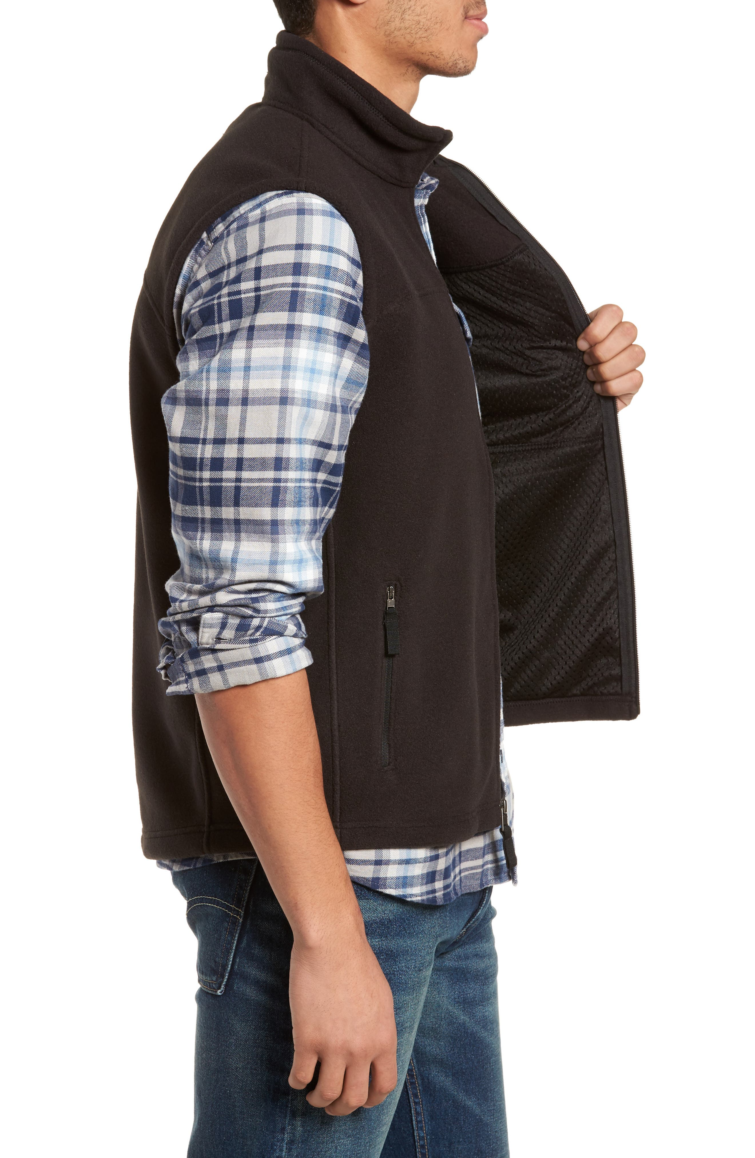 Classic Synchilla<sup>®</sup> Fleece Vest,                             Alternate thumbnail 3, color,                             001