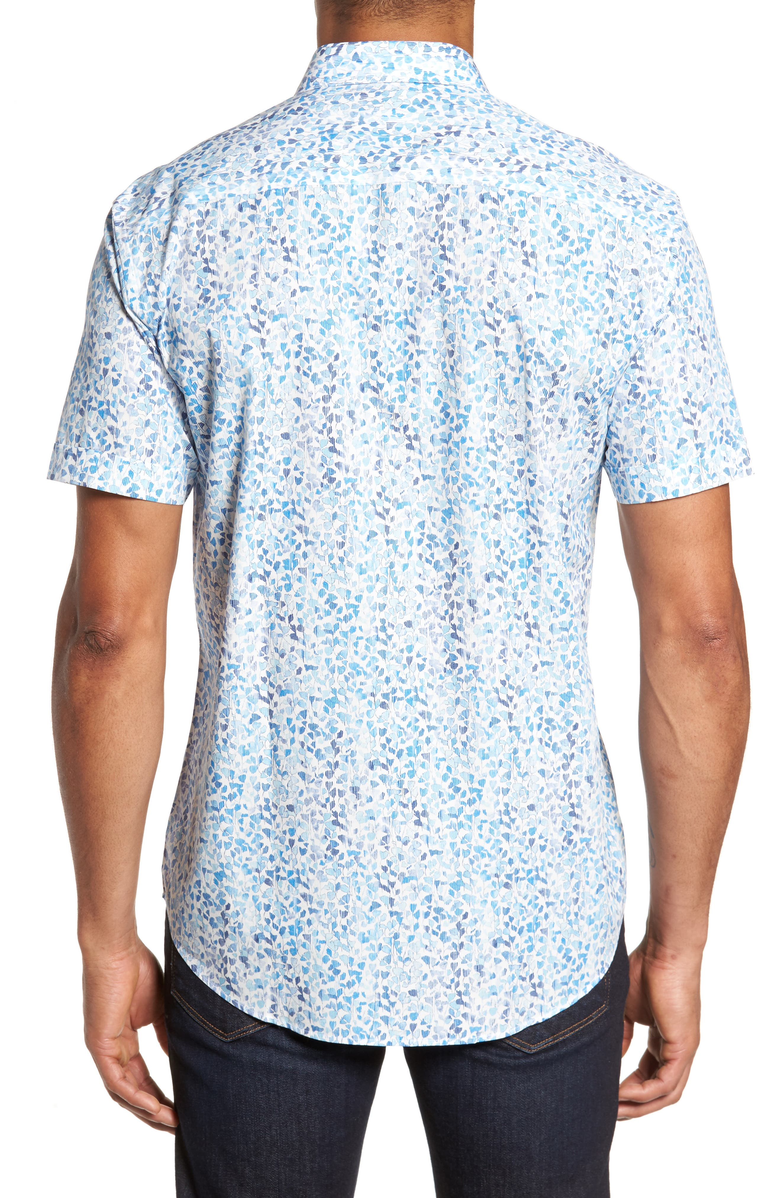 Shaped Fit Print Sport Shirt,                             Alternate thumbnail 2, color,                             422