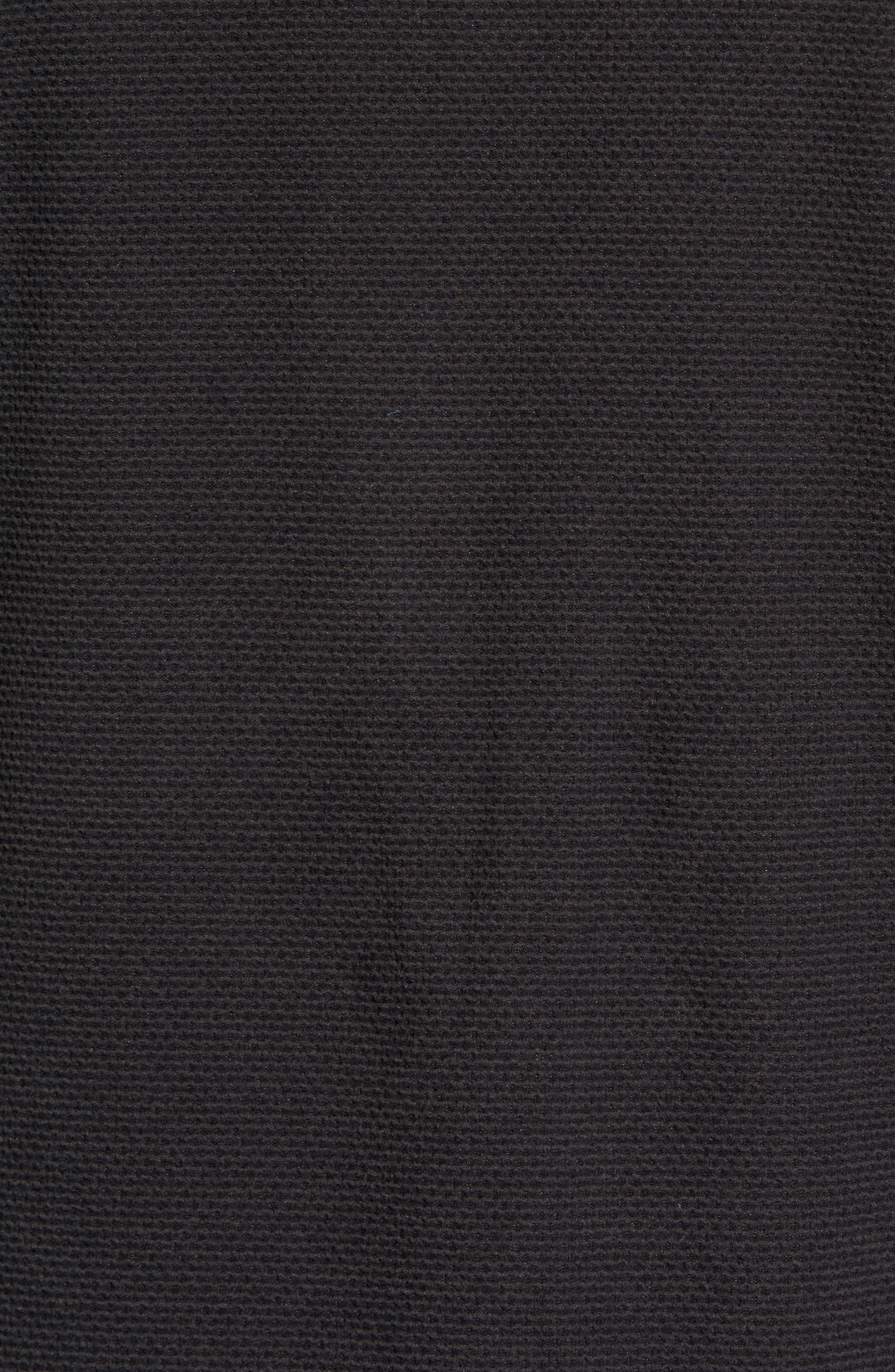 Texture Cap Rock Quarter Zip Fleece Jacket,                             Alternate thumbnail 6, color,                             TNF BLACK