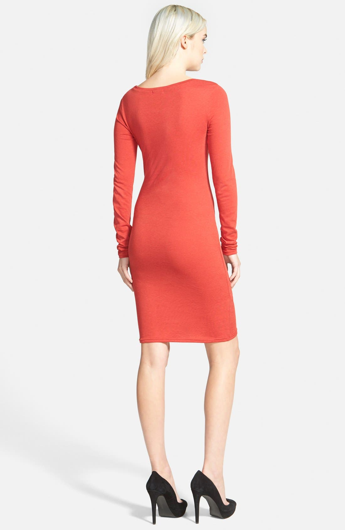 Ruched Long Sleeve Dress,                             Alternate thumbnail 73, color,