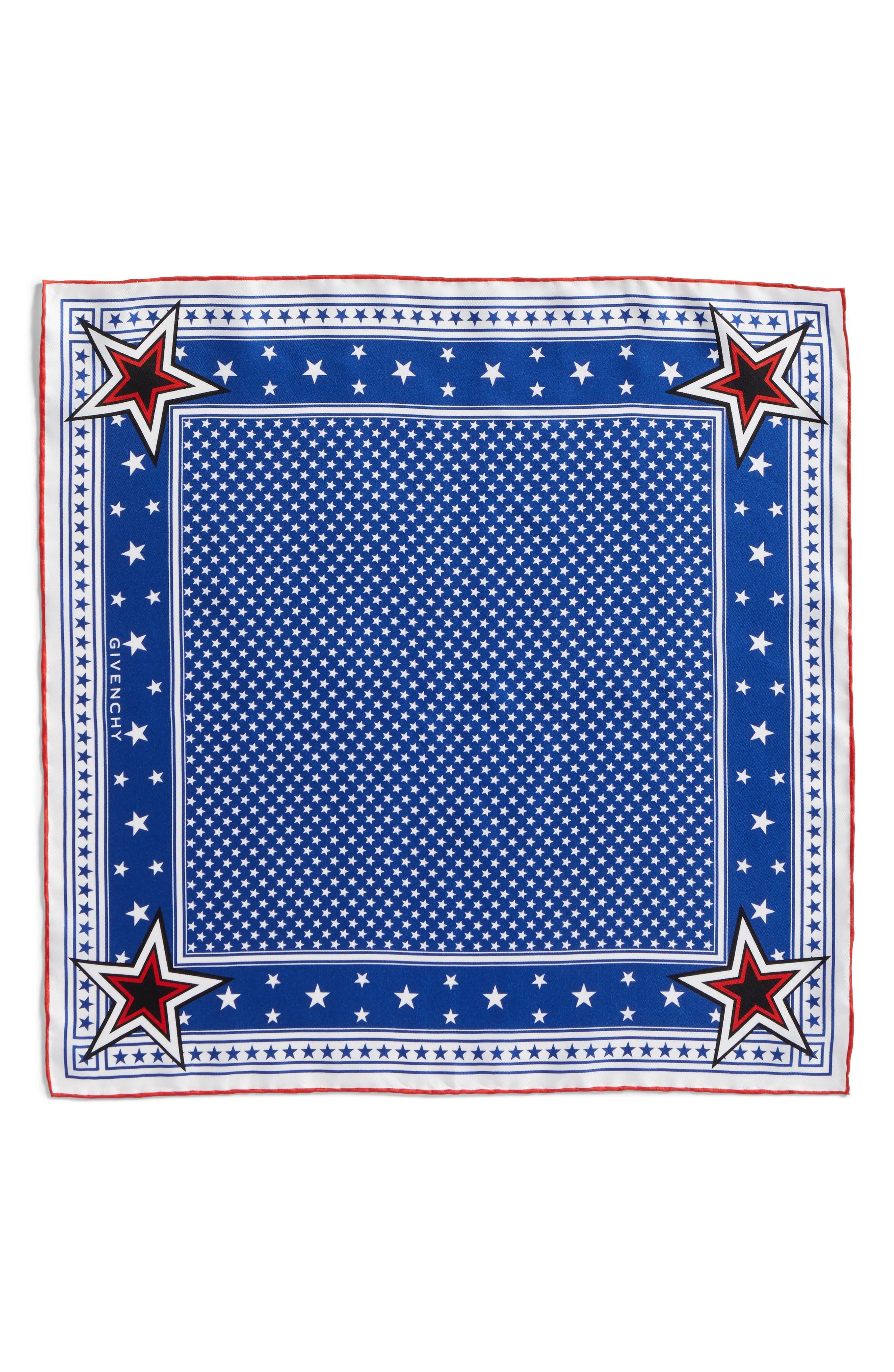 Star Silk Twill Square Scarf,                         Main,                         color, 469