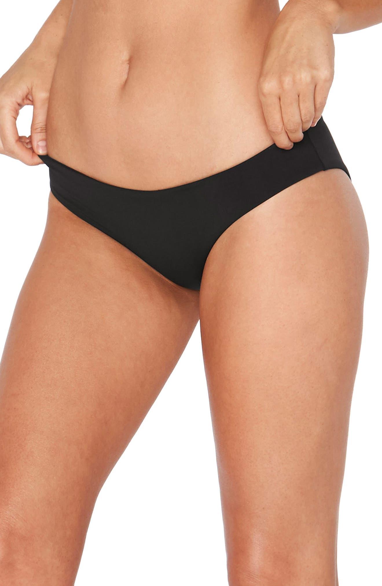 Sandy Classic Bikini Bottoms,                         Main,                         color, BLACK