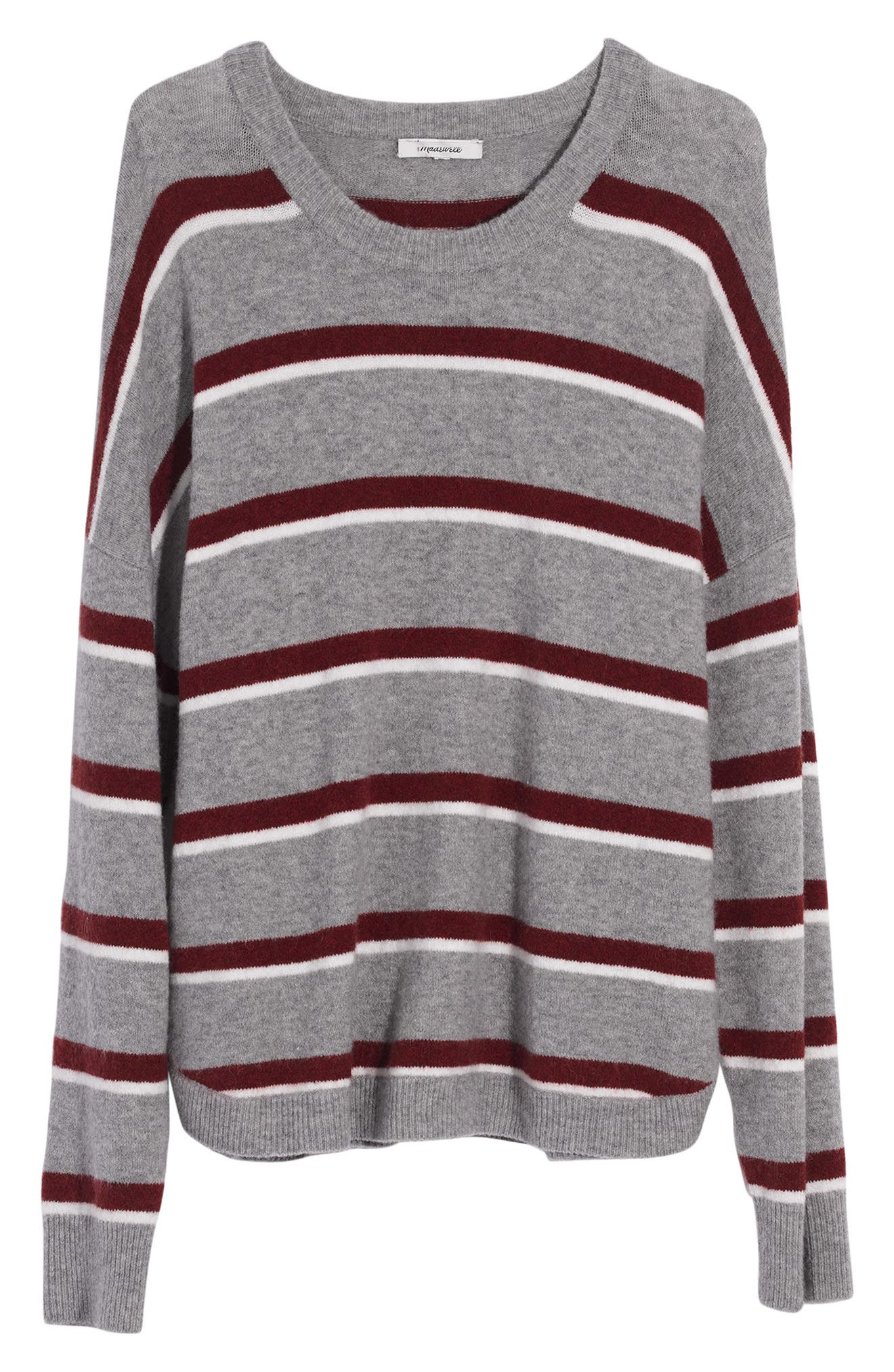 Westlake Striped Pullover Sweater in Coziest Yarn,                         Main,                         color, HEATHER GUNMETAL