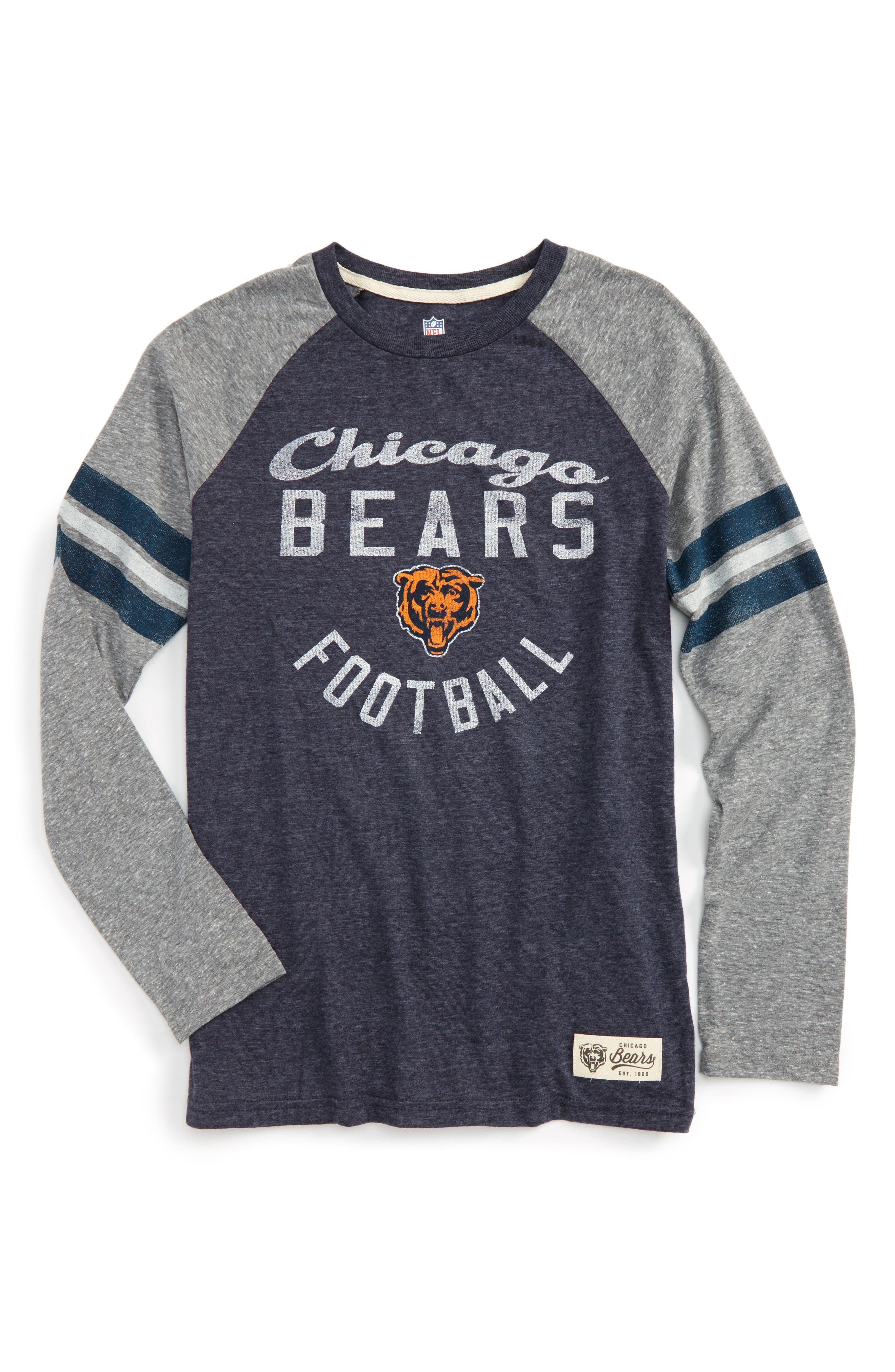 NFL Chicago Bears Distressed Logo T-Shirt,                             Main thumbnail 1, color,                             001