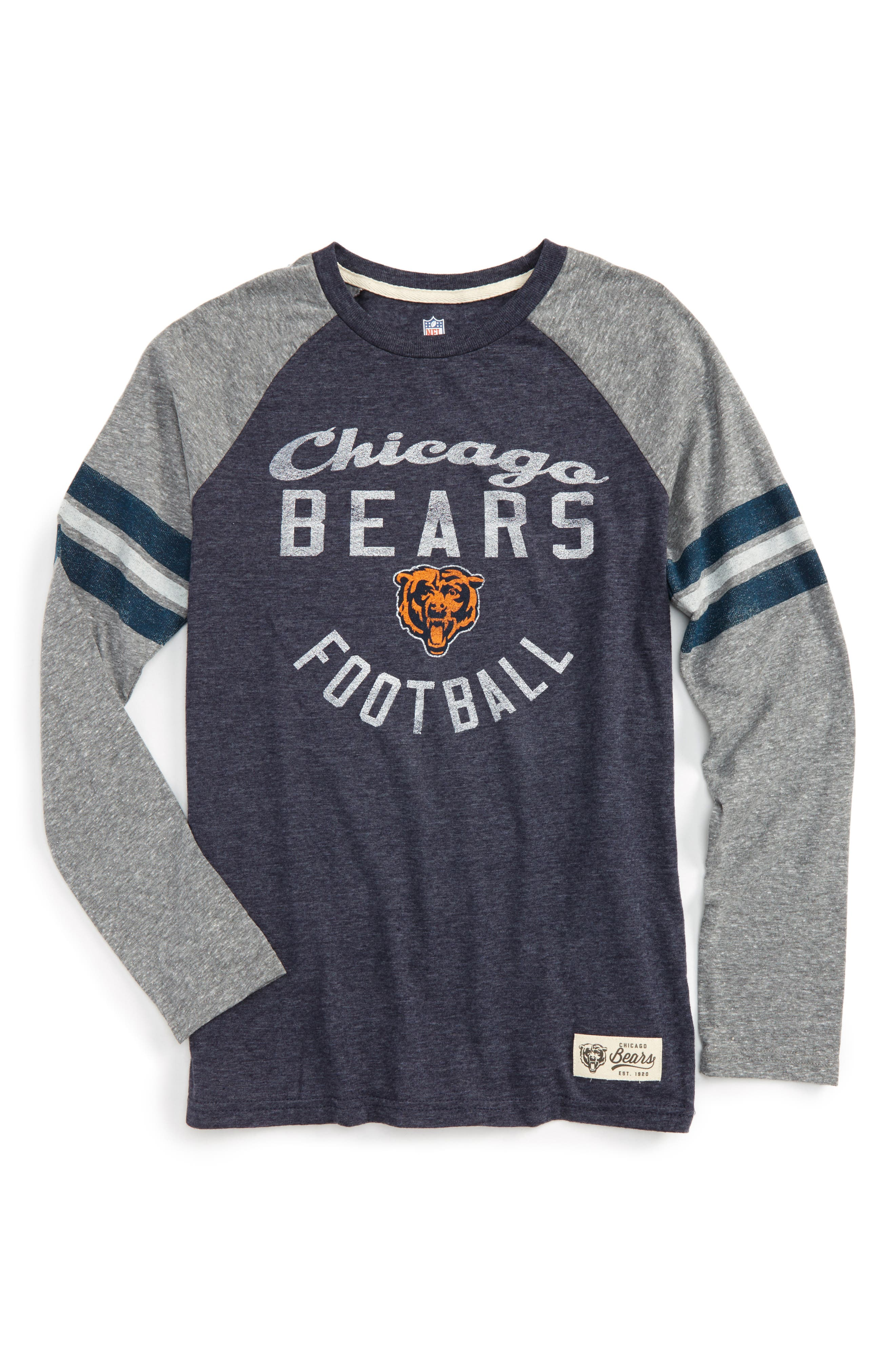 NFL Chicago Bears Distressed Logo T-Shirt,                         Main,                         color, 001