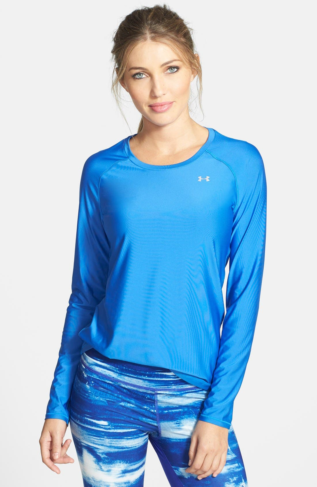'Alpha Novelty' HeatGear<sup>®</sup> Long Sleeve Top,                             Main thumbnail 2, color,