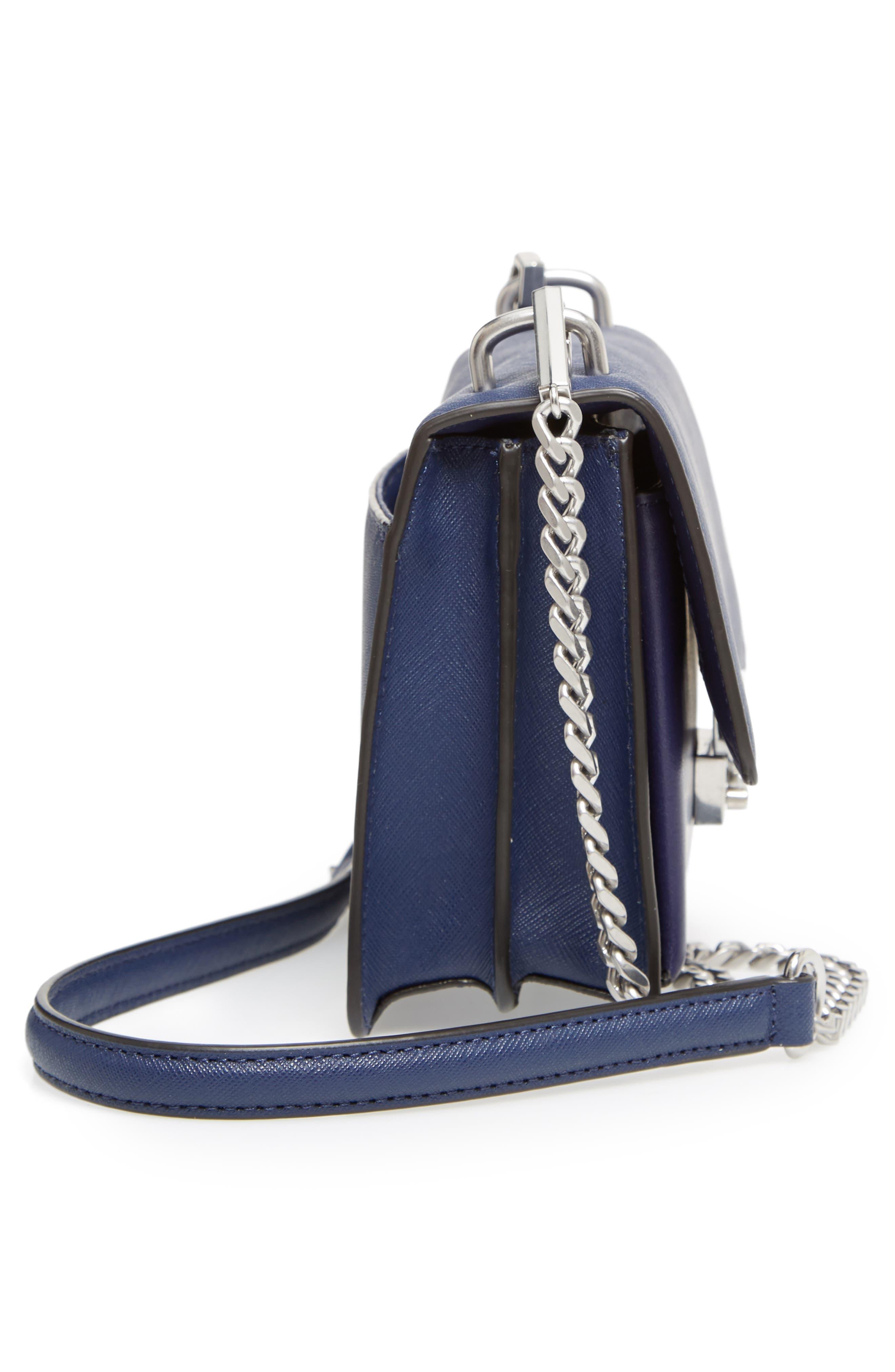 Medium Christy Leather Shoulder Bag,                             Alternate thumbnail 23, color,