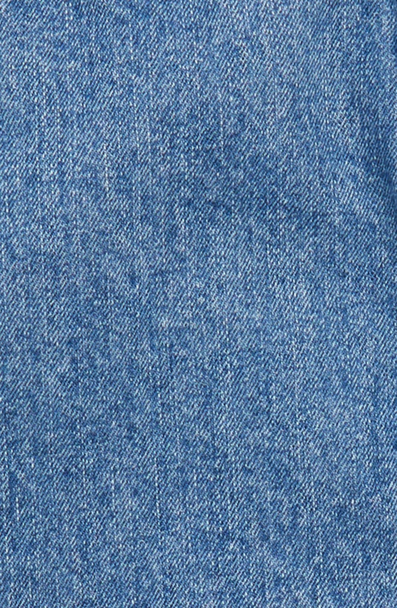 Embroidered Denim Skirt,                             Alternate thumbnail 3, color,                             487