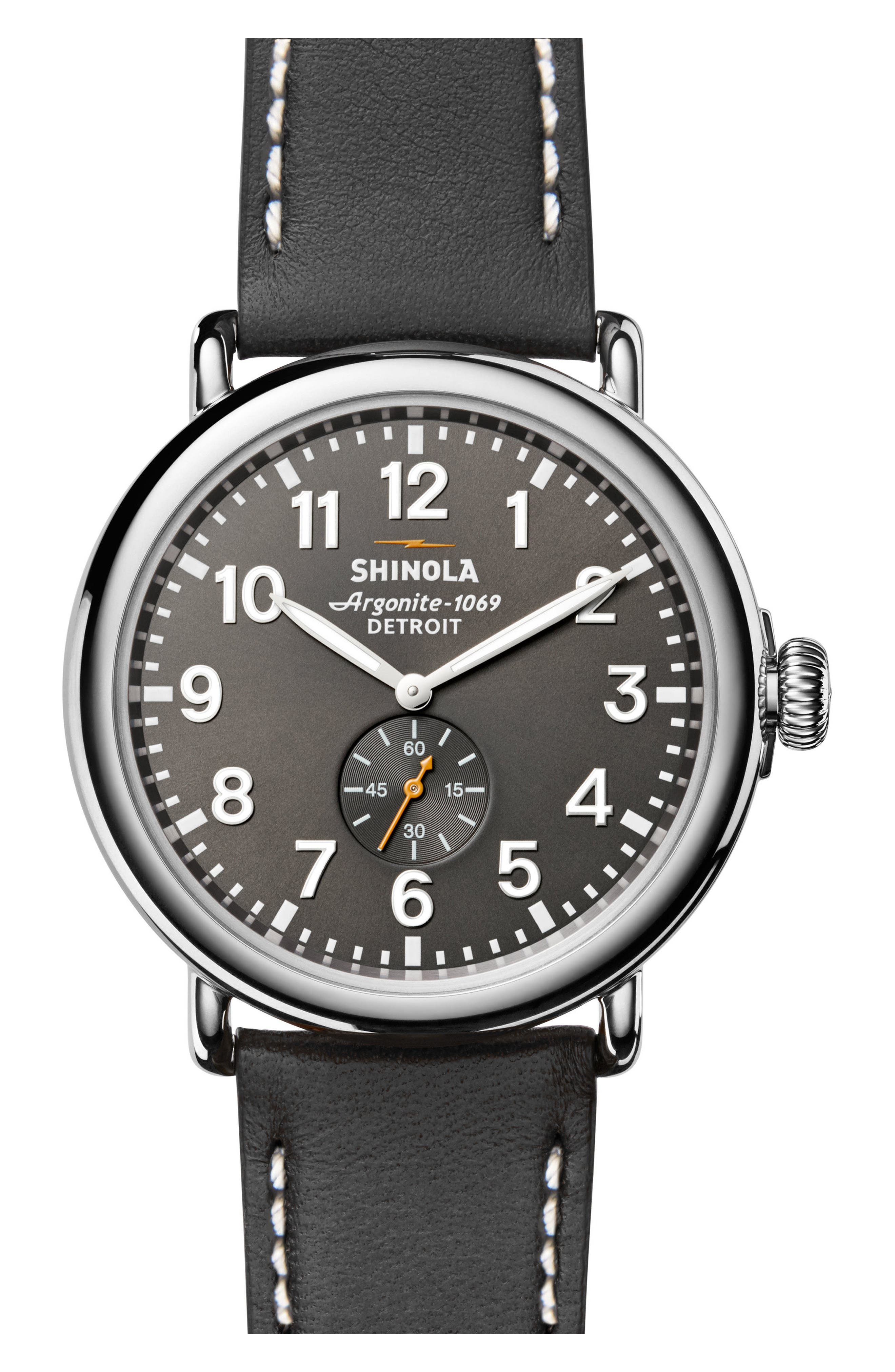 'The Runwell' Leather Strap Watch, 47mm,                             Alternate thumbnail 18, color,