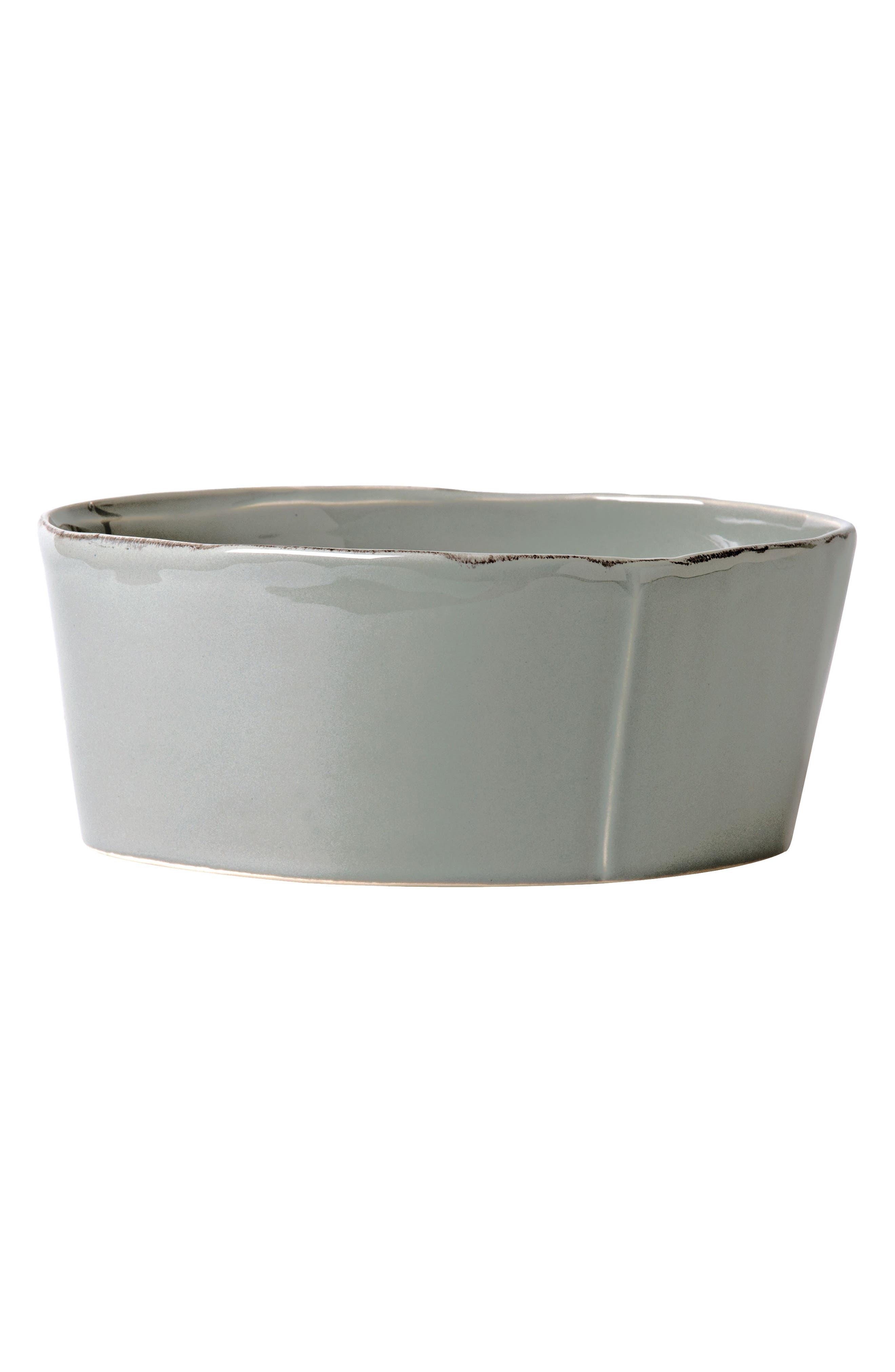 VIETRI Lastra Serving Bowl, Main, color, GRAY - LARGE
