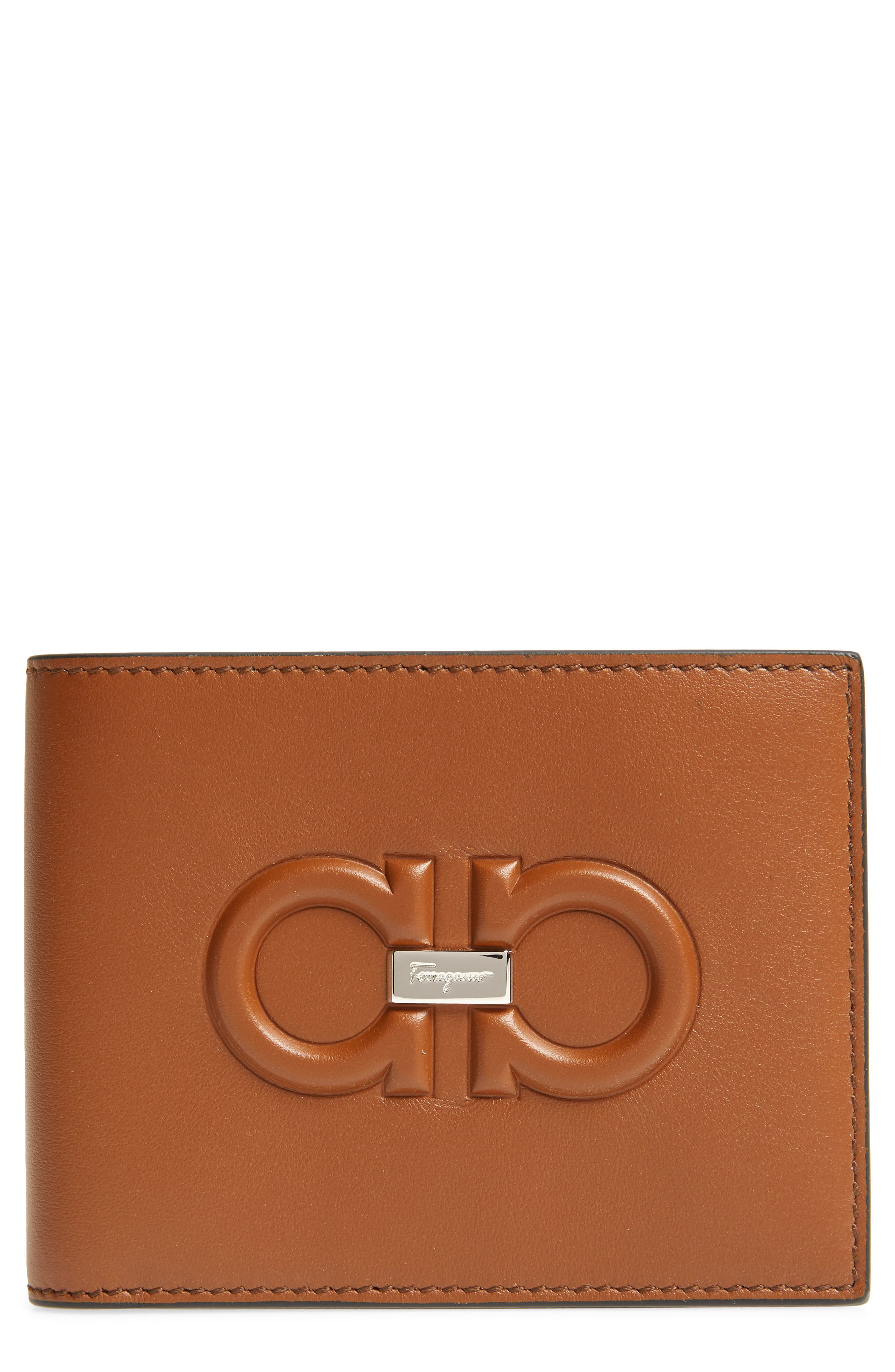 Firenze Logo Leather Wallet by Salvatore Ferragamo