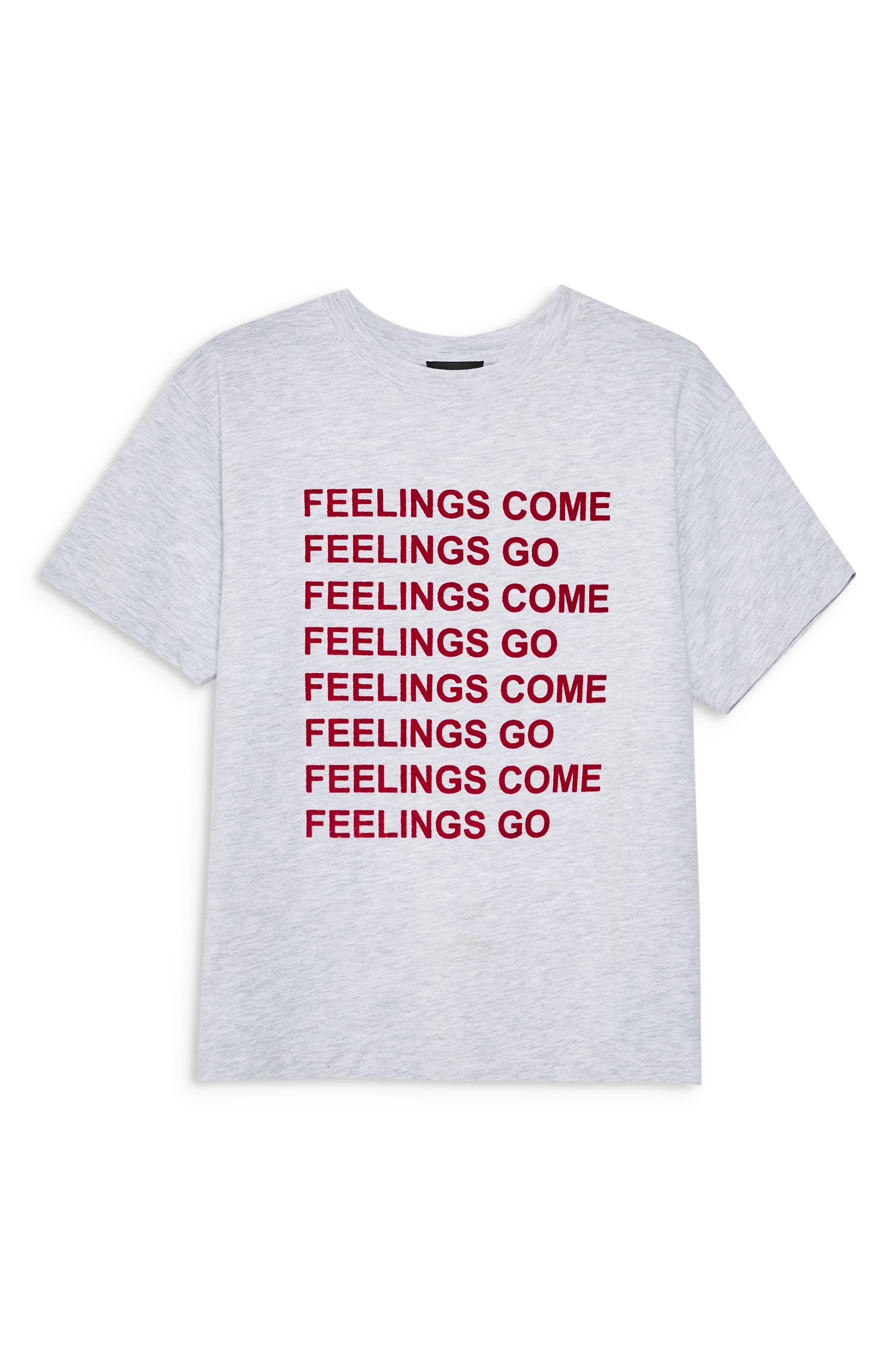 Feelings Come Tee,                             Alternate thumbnail 3, color,                             GREY MARL MULTI