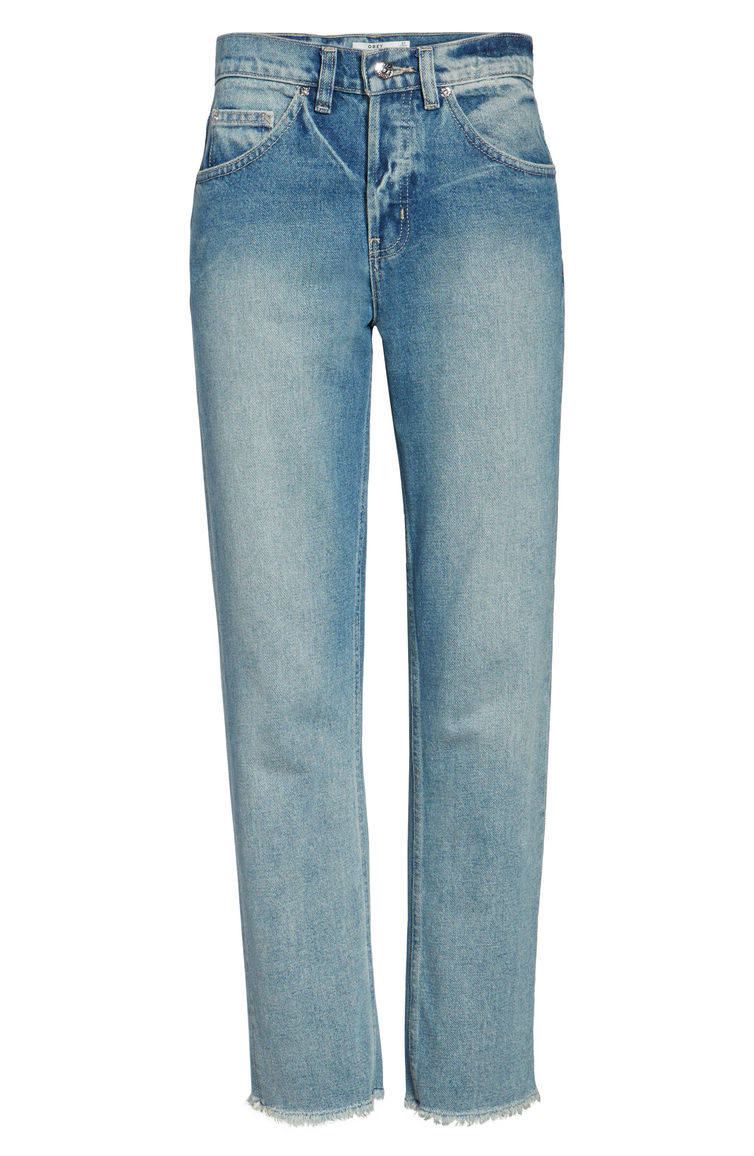 Sundays Straggler High Waist Jeans,                             Alternate thumbnail 6, color,                             400