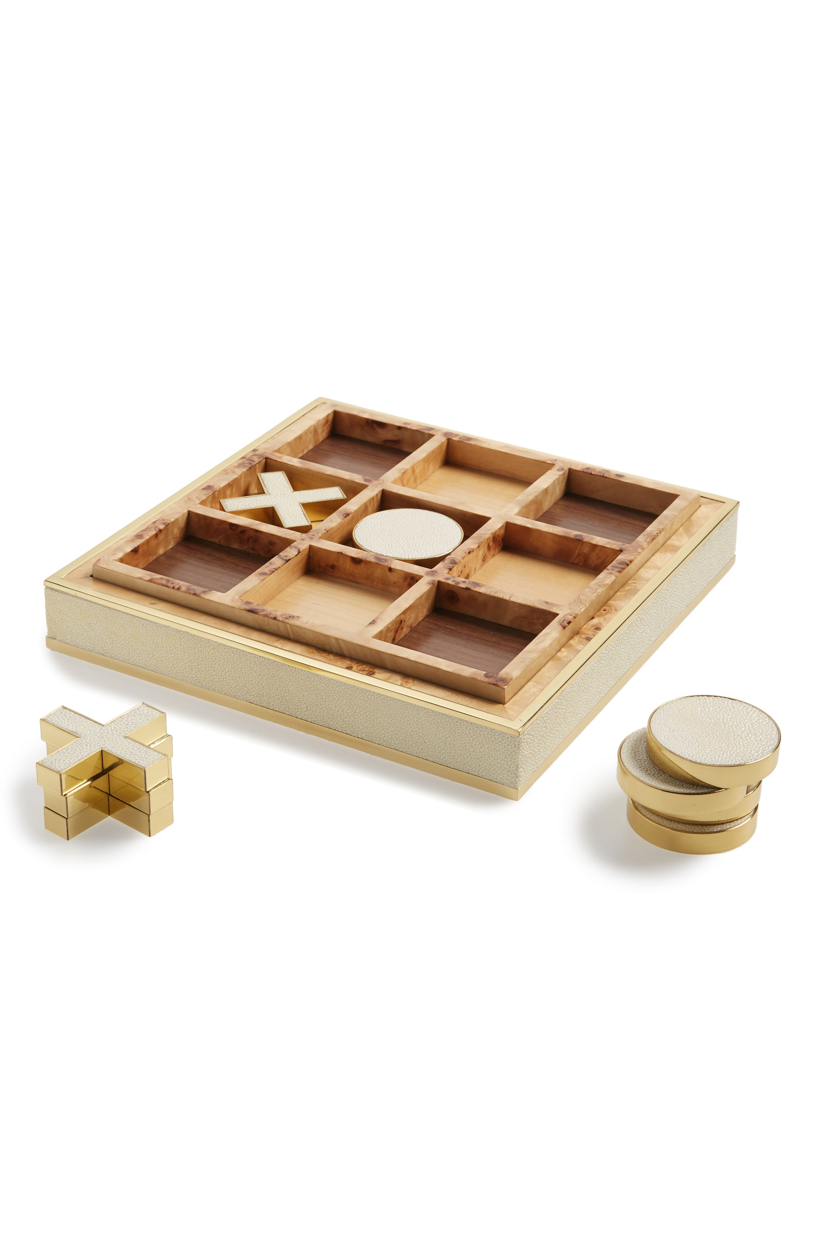 Shagreen Tic-Tac-Toe Game,                         Main,                         color, WHITE