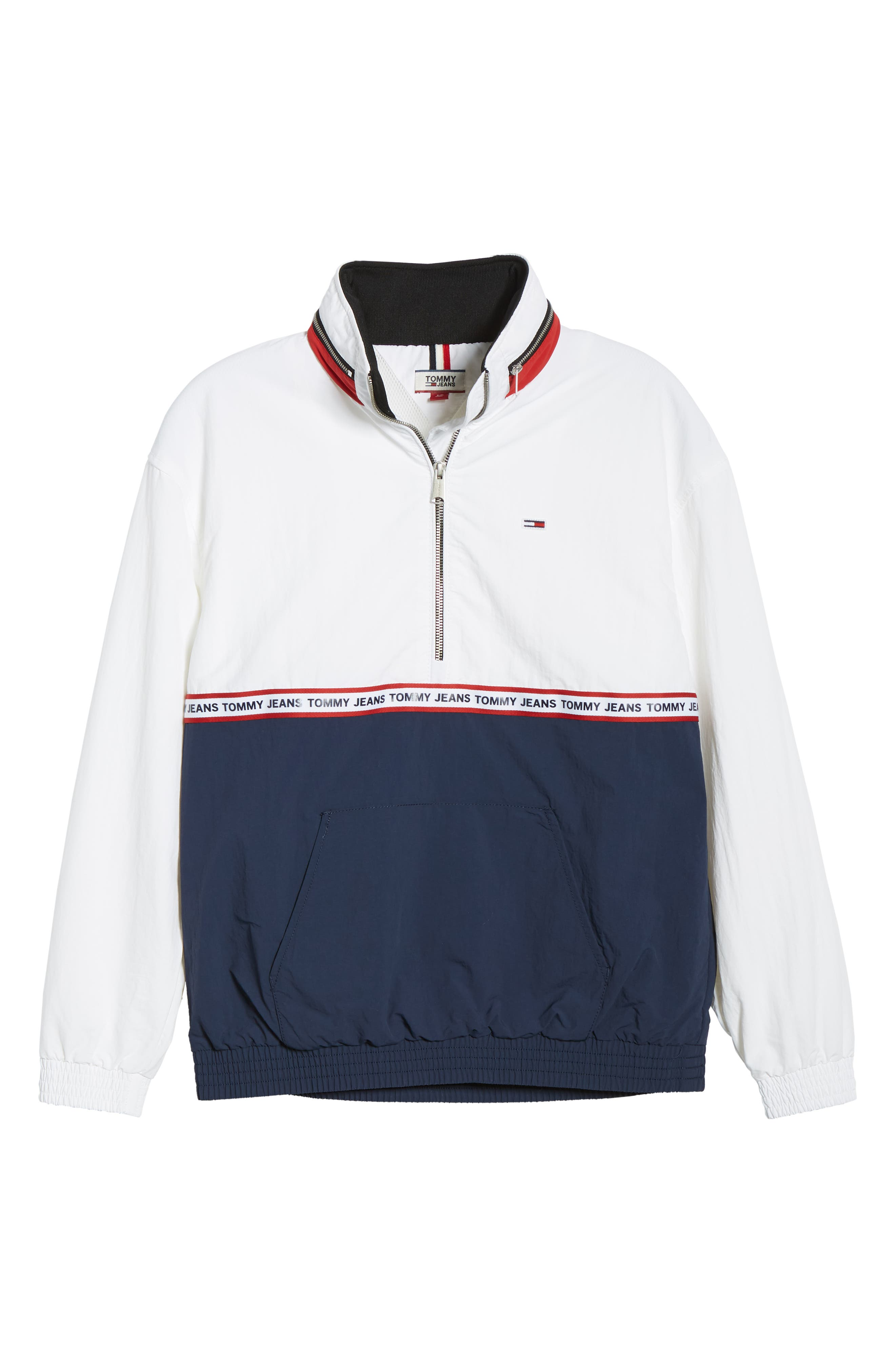 TOMMY JEANS,                             TJW Logo Tape Pullover,                             Alternate thumbnail 6, color,                             400