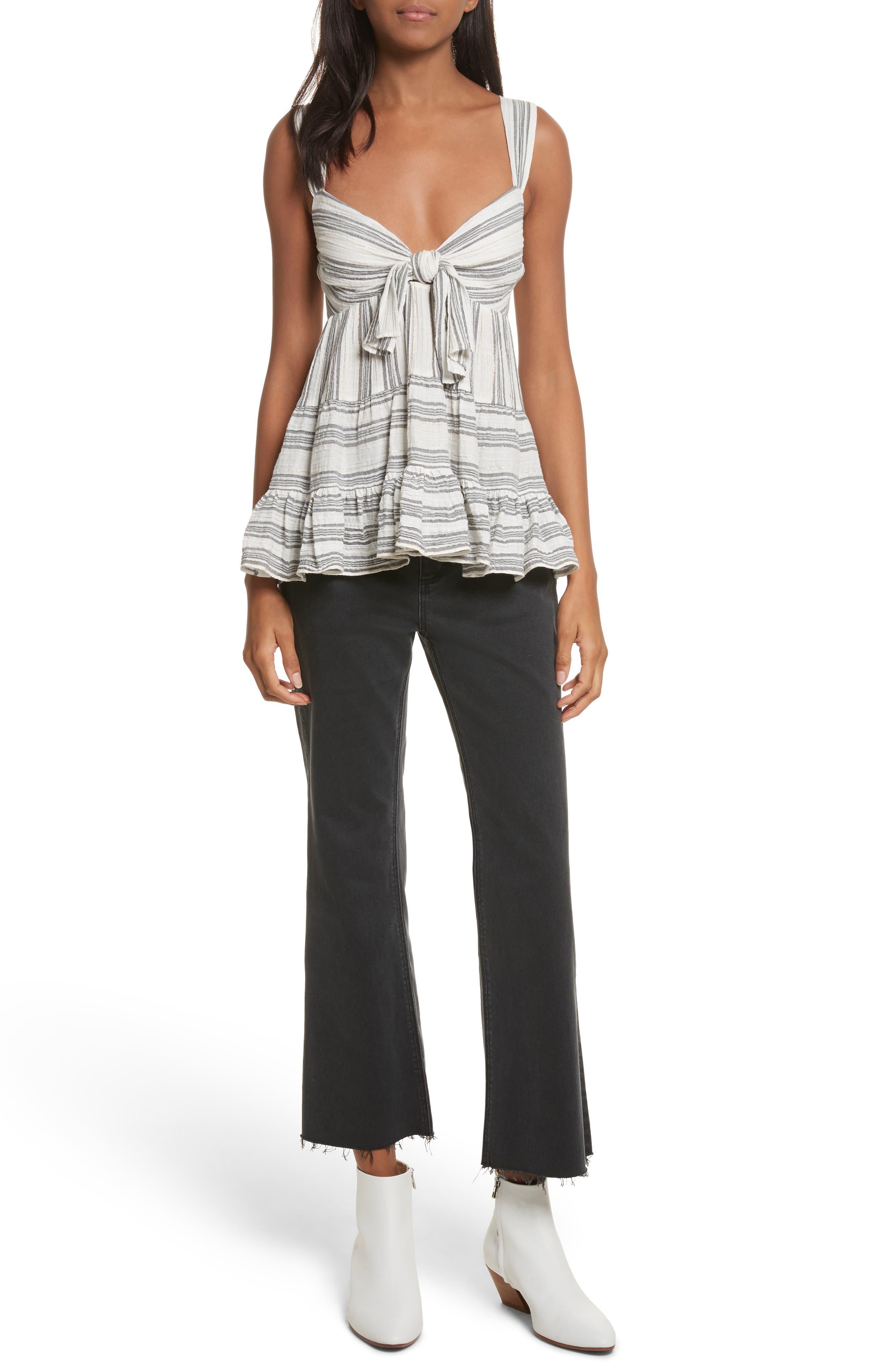 Glitter Stripe Jeans,                             Alternate thumbnail 7, color,                             037