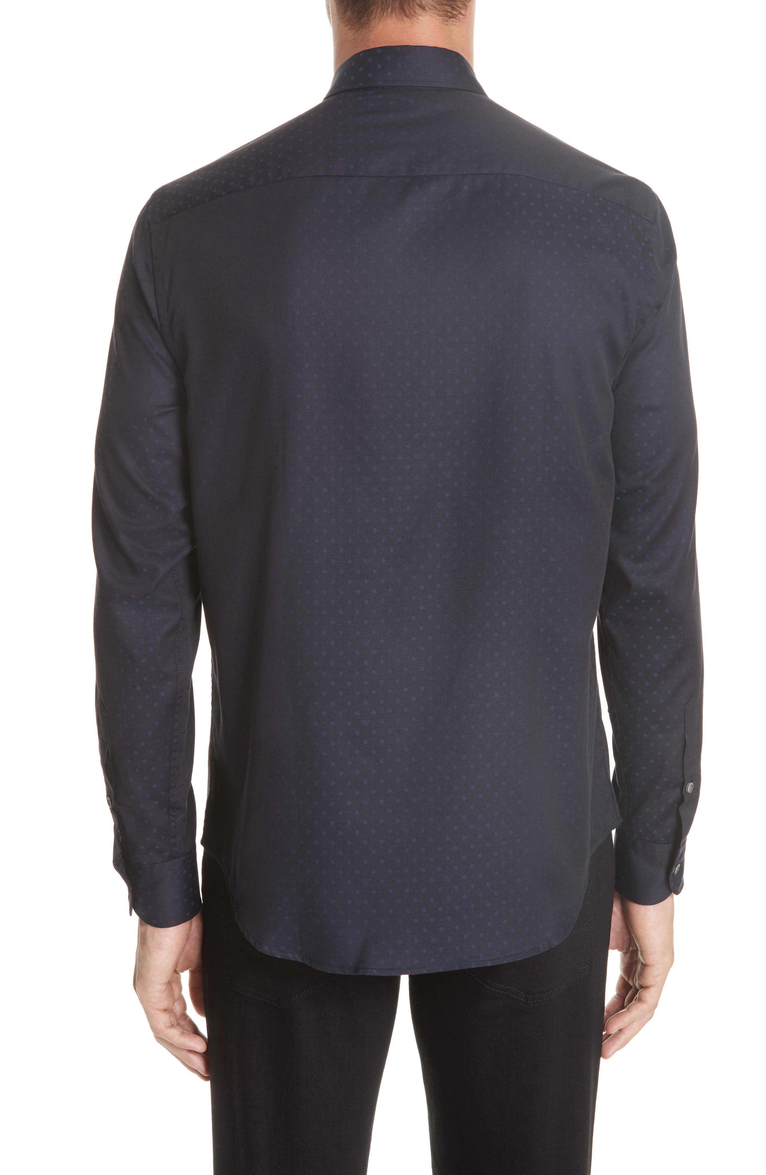 Regular Fit Stretch Solid Sport Shirt,                             Alternate thumbnail 2, color,                             NAVY