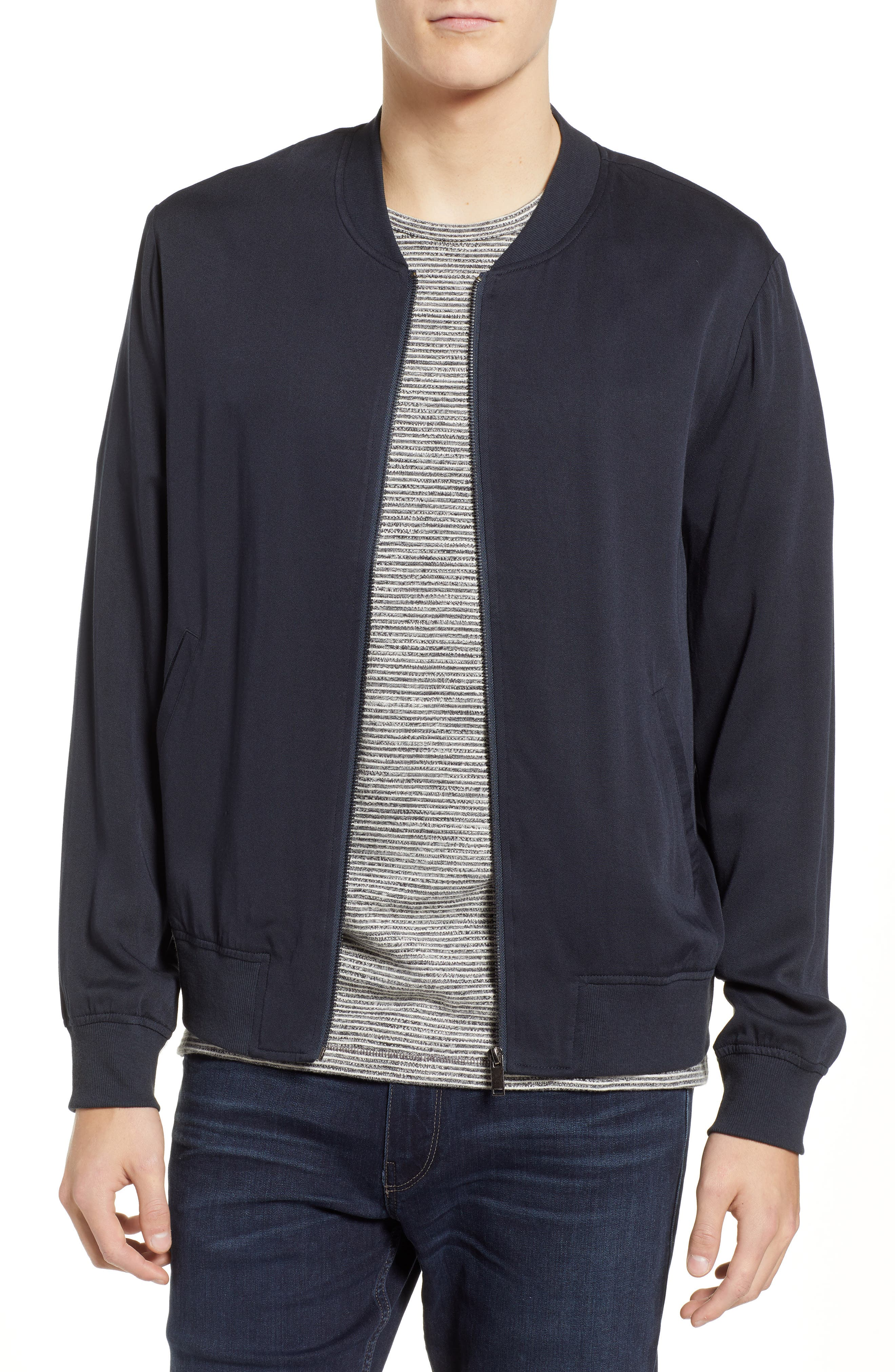 Lightweight Woven Jacket,                         Main,                         color, CARBON