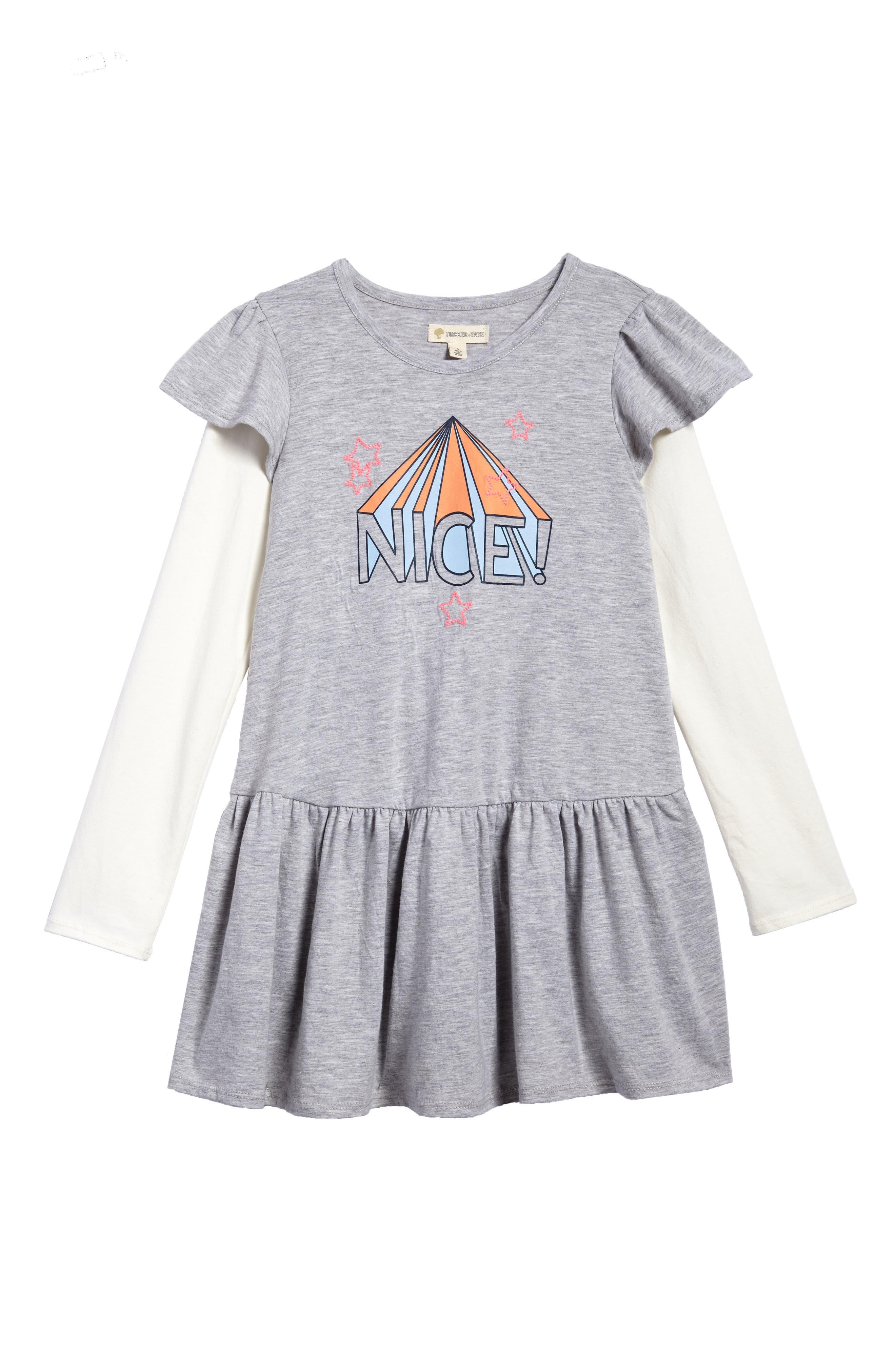 Flutter Sleeve Knit Dress,                         Main,                         color,