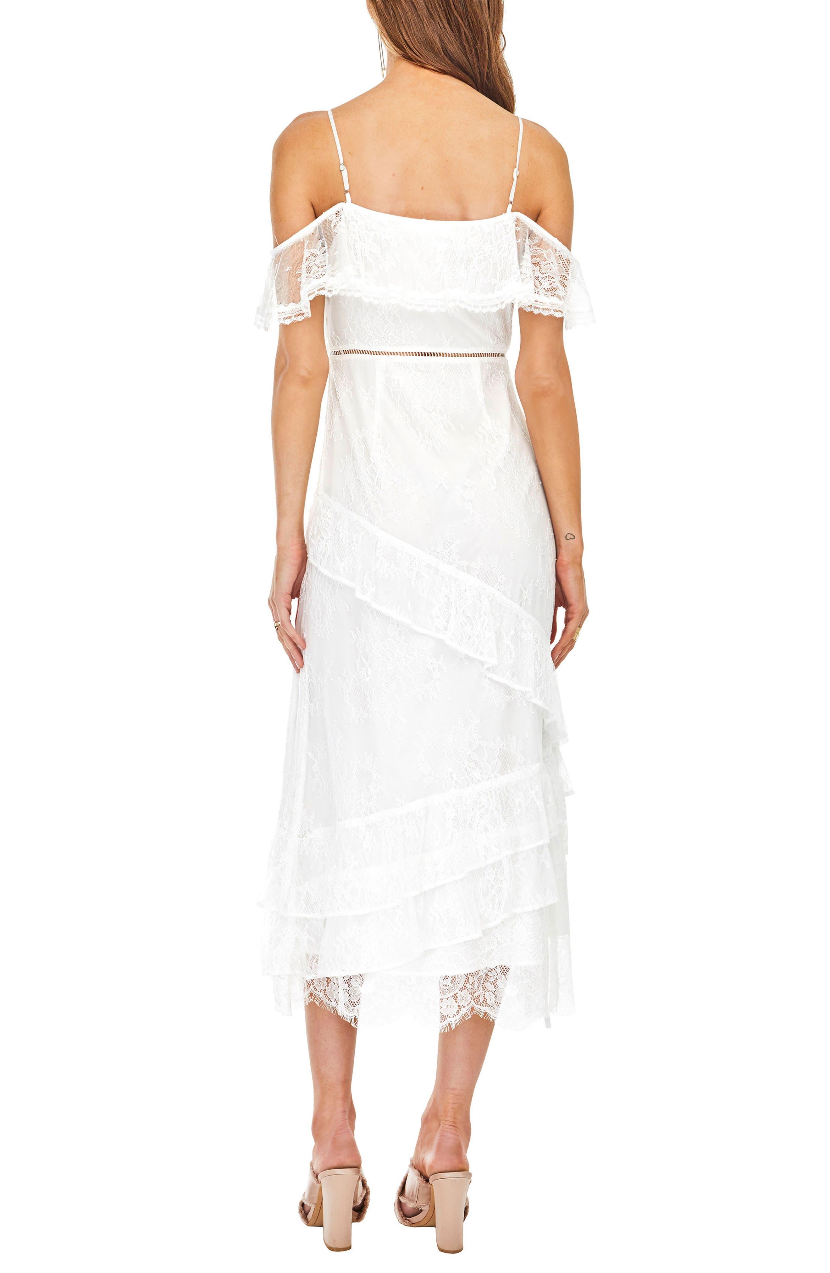 Marguerite Off the Shoulder Midi Dress,                             Alternate thumbnail 2, color,                             100
