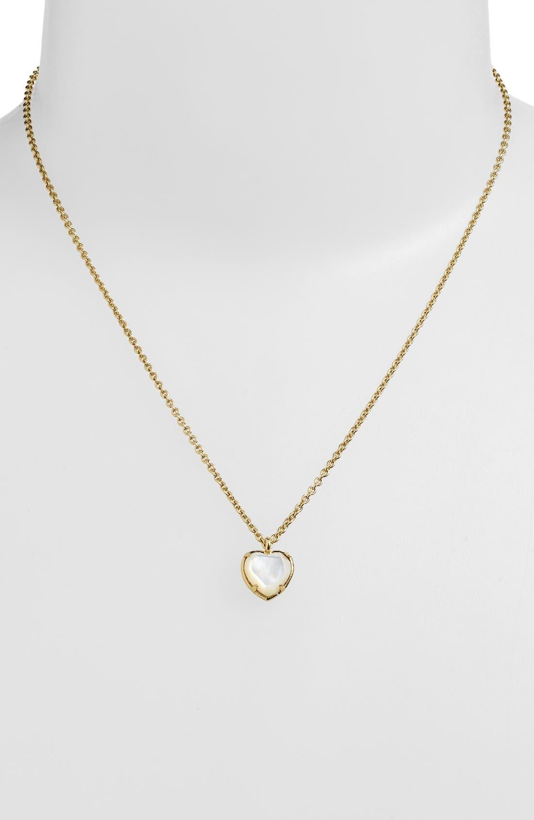 heart pendant necklace,                             Alternate thumbnail 2, color,                             250