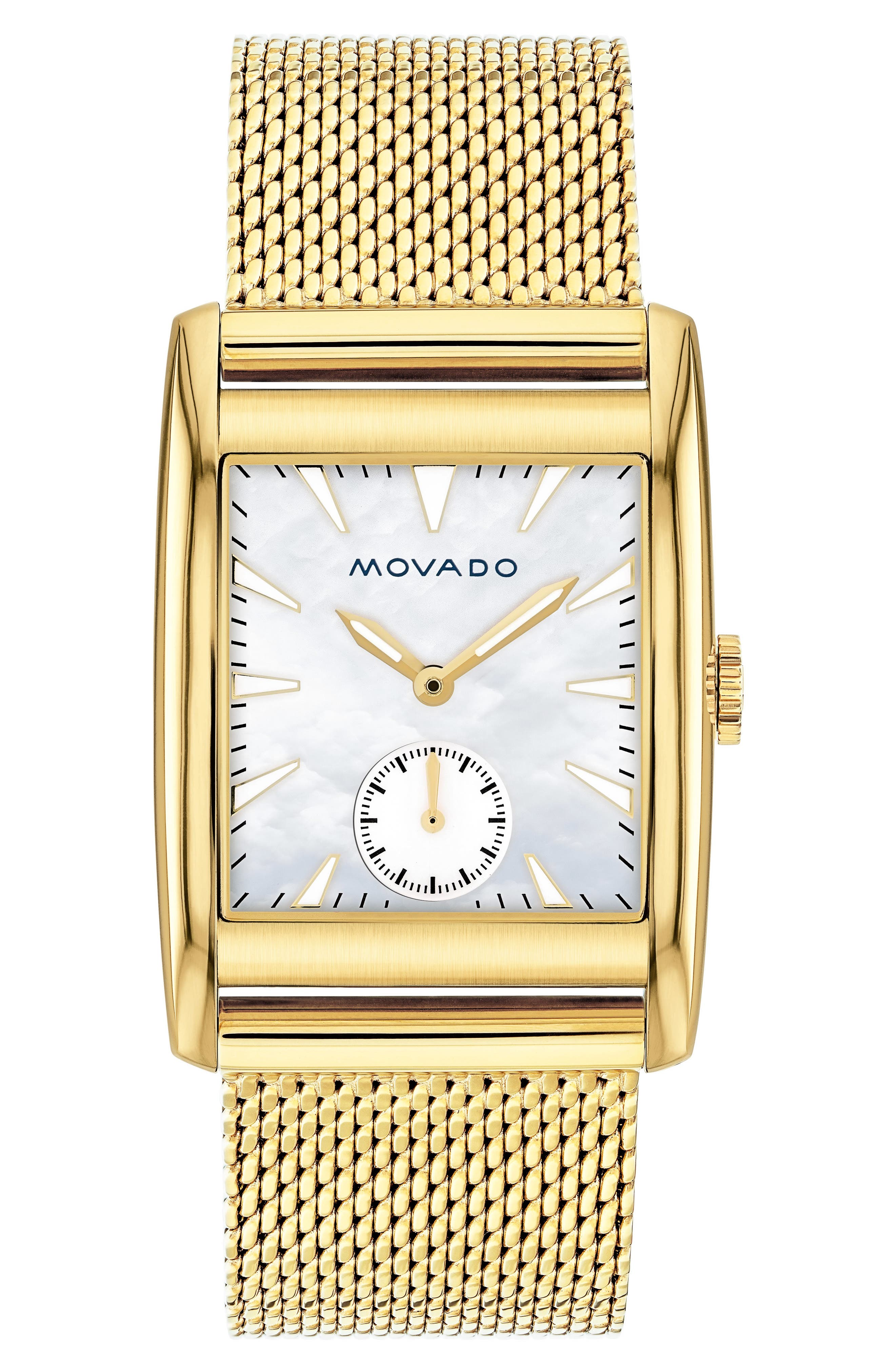 Heritage Mesh Strap Watch, 38mm,                             Main thumbnail 1, color,                             GOLD/ MOP/ GOLD