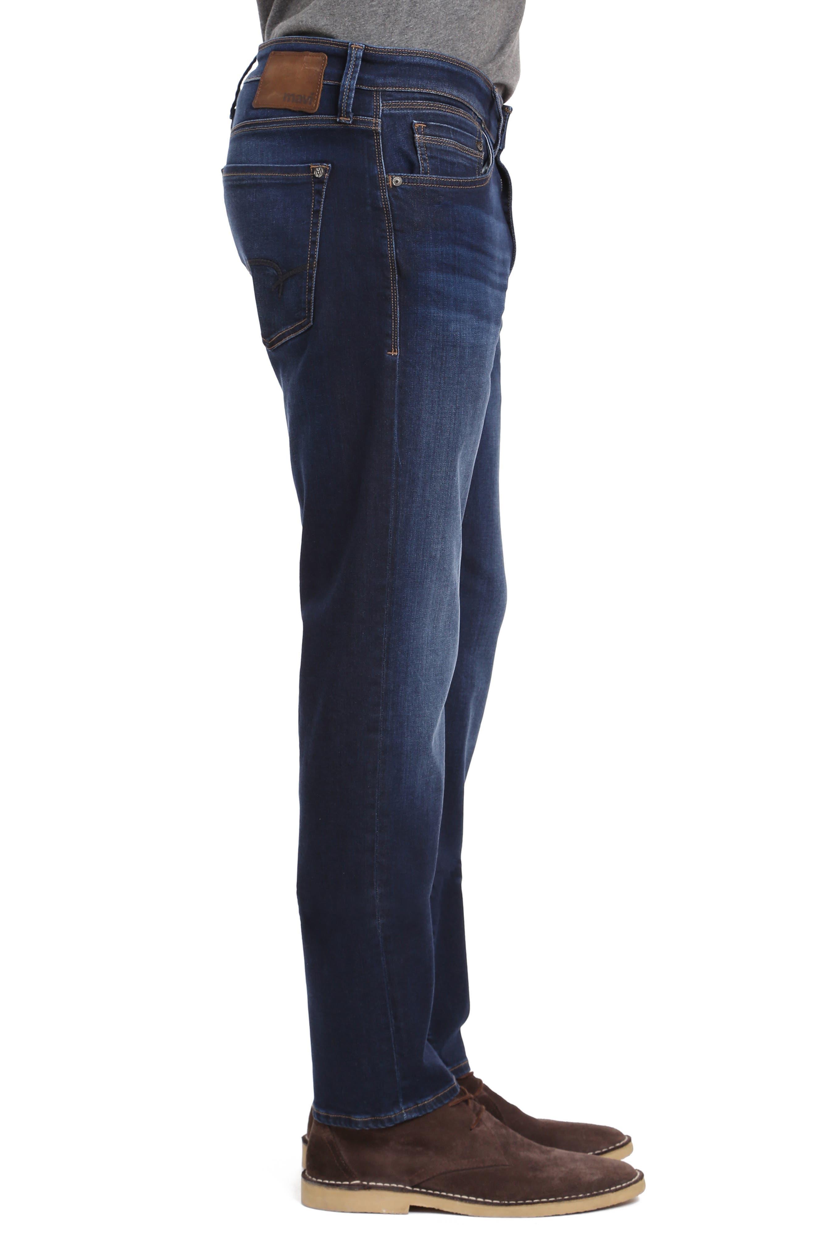 Marcus Slim Straight Leg Jeans,                             Alternate thumbnail 3, color,                             DEEP SOFT MOVE