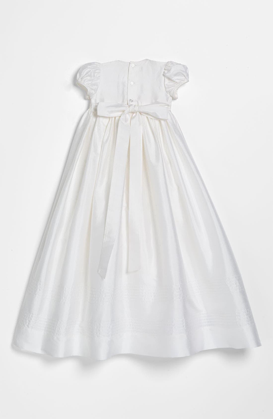 Silk Gown,                             Alternate thumbnail 2, color,                             WHITE