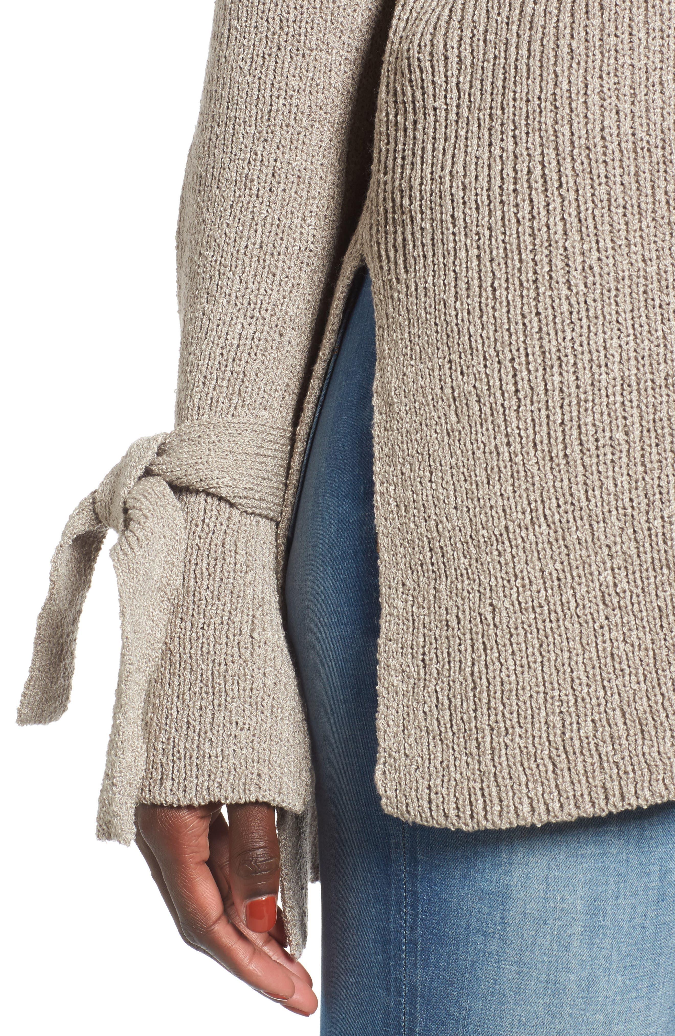 Tie Sleeve Sweater,                             Alternate thumbnail 4, color,                             268