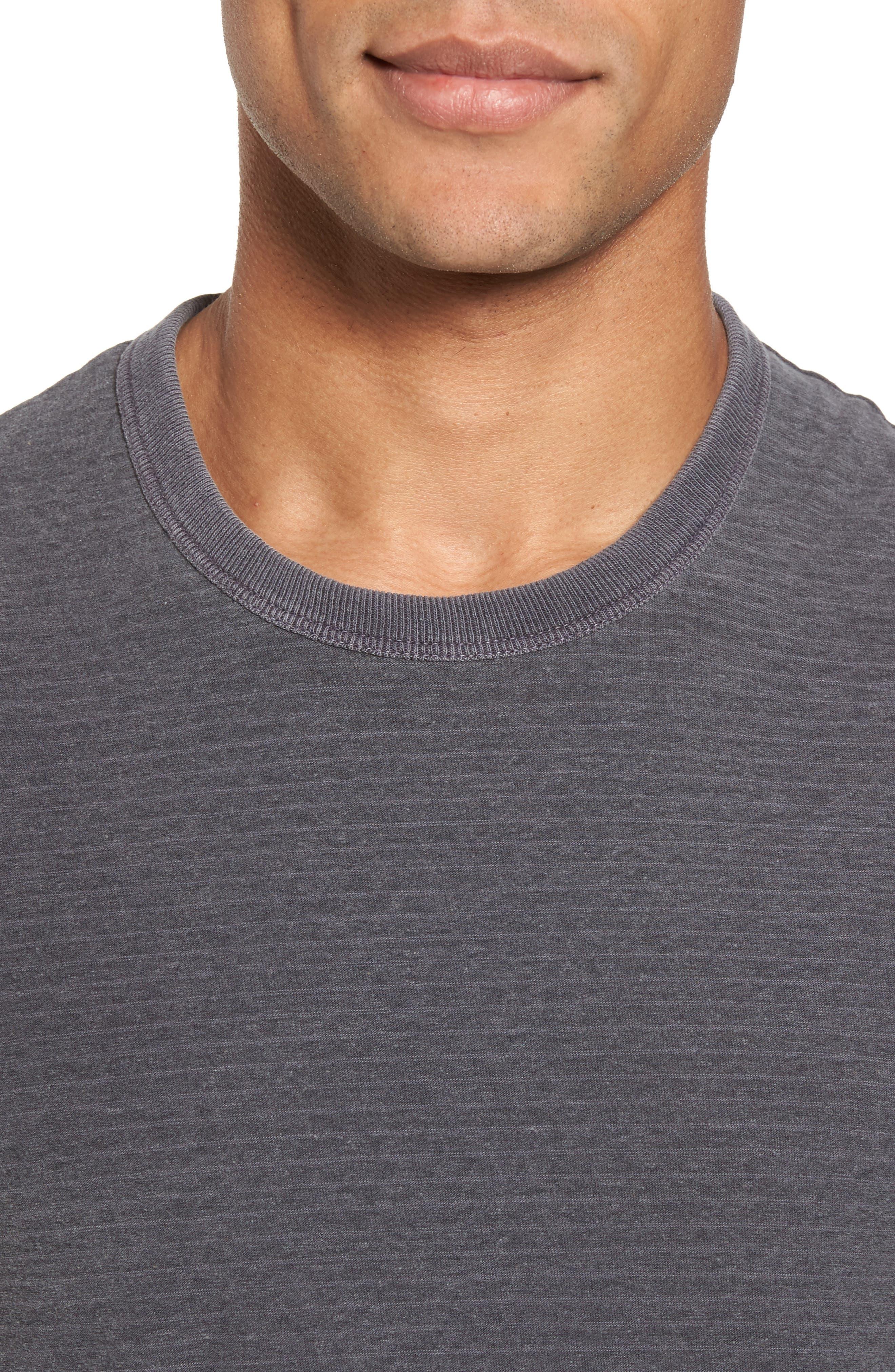 Microstripe Ringer T-Shirt,                             Alternate thumbnail 4, color,                             020