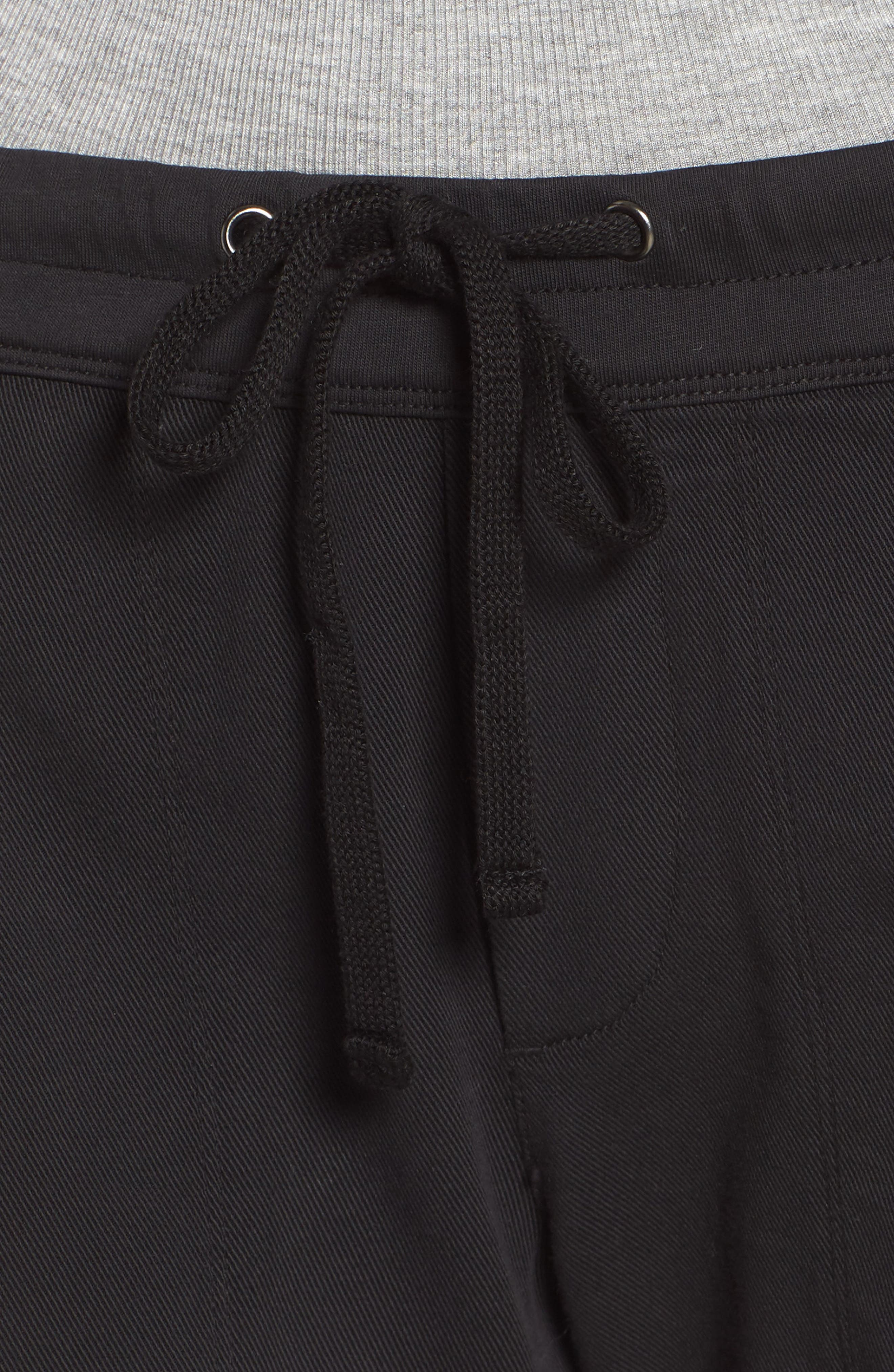 Soft Drape Utility Shorts,                             Alternate thumbnail 4, color,                             001