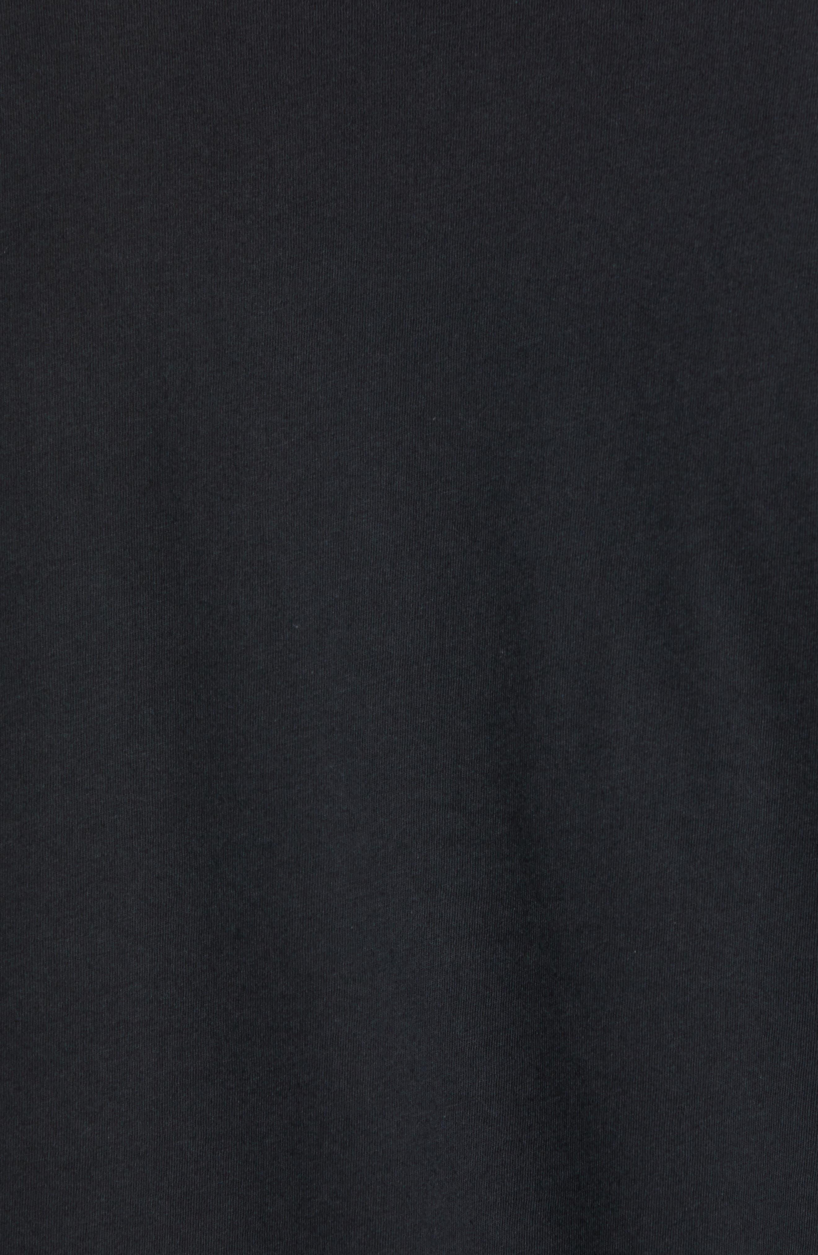 Fitz Roy Scope Crewneck T-Shirt,                             Alternate thumbnail 5, color,                             BLACK