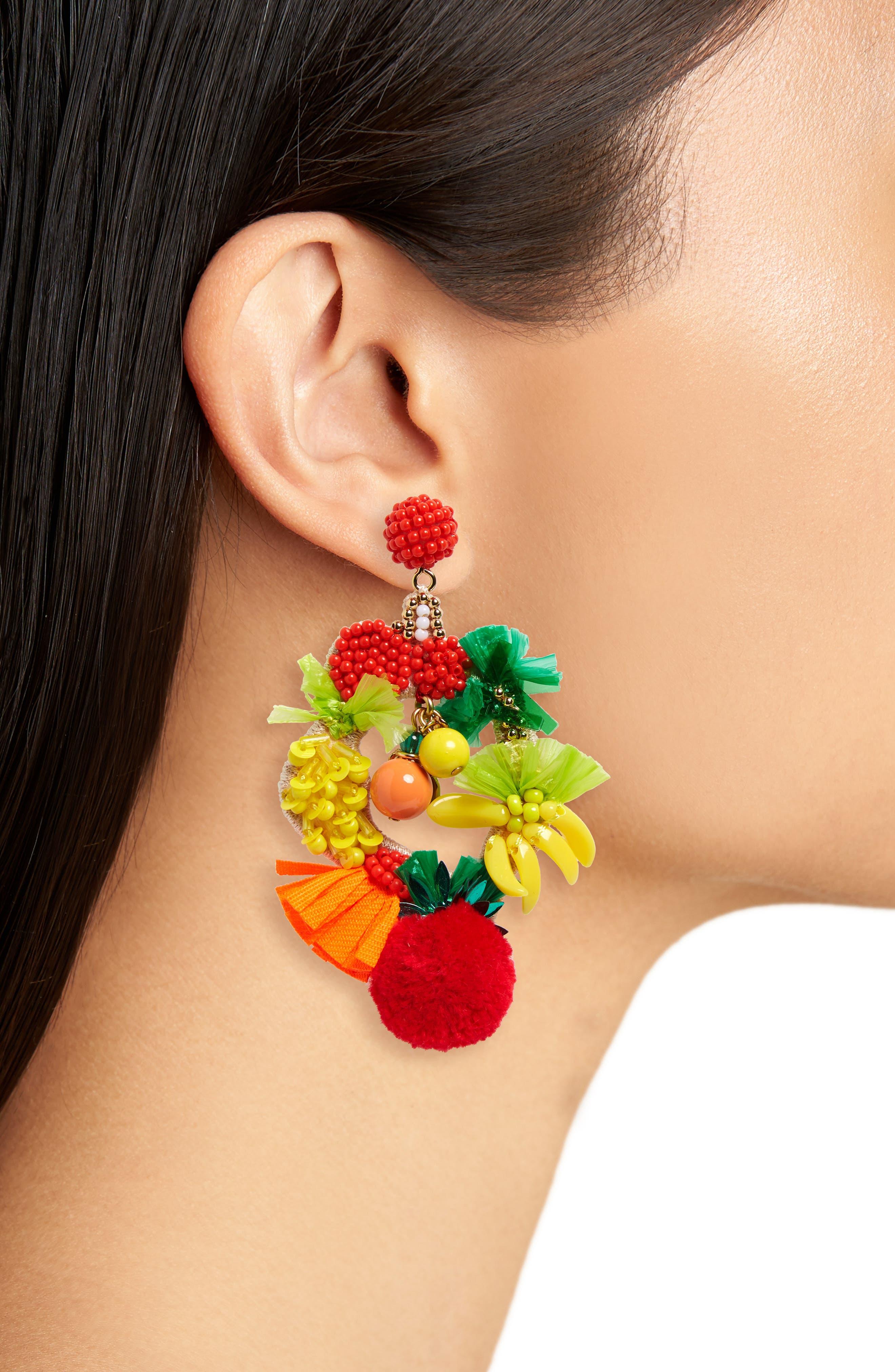 Fruit Bowl Earrings,                             Alternate thumbnail 2, color,