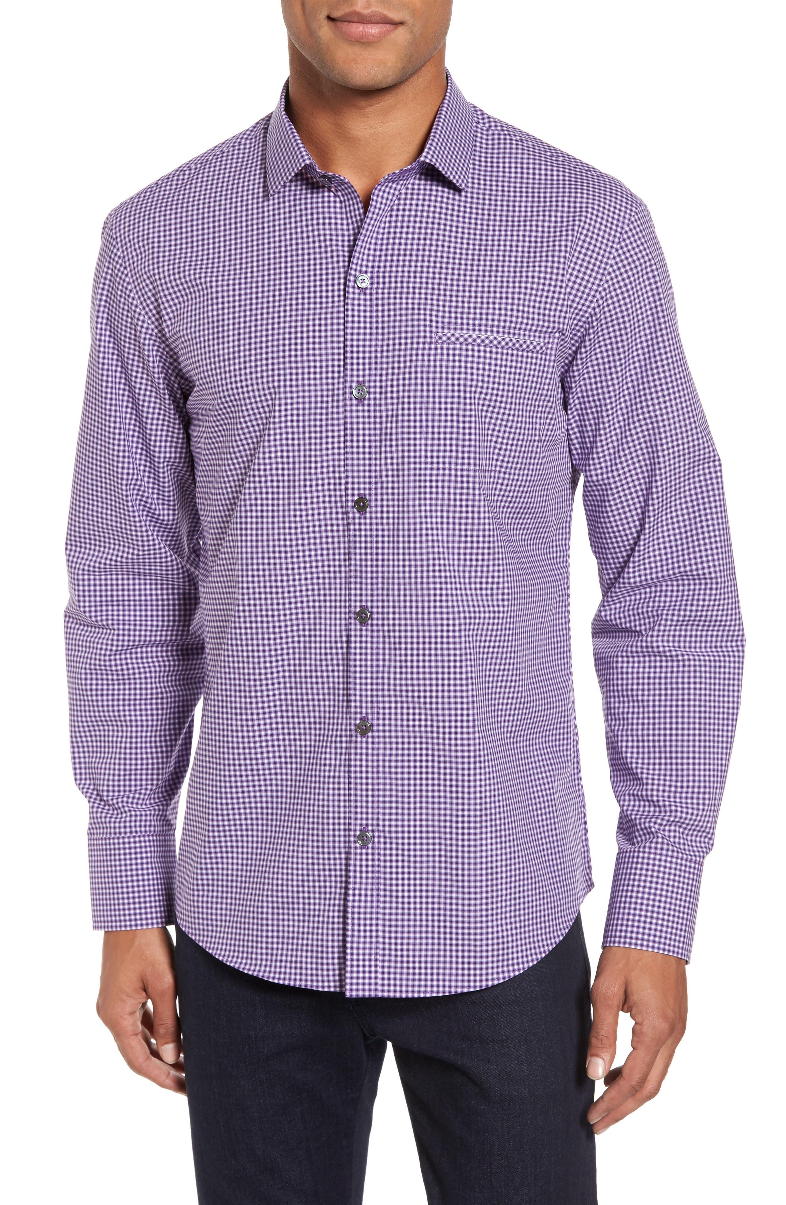 Pawlata Slim Fit Check Sport Shirt,                             Main thumbnail 1, color,                             500
