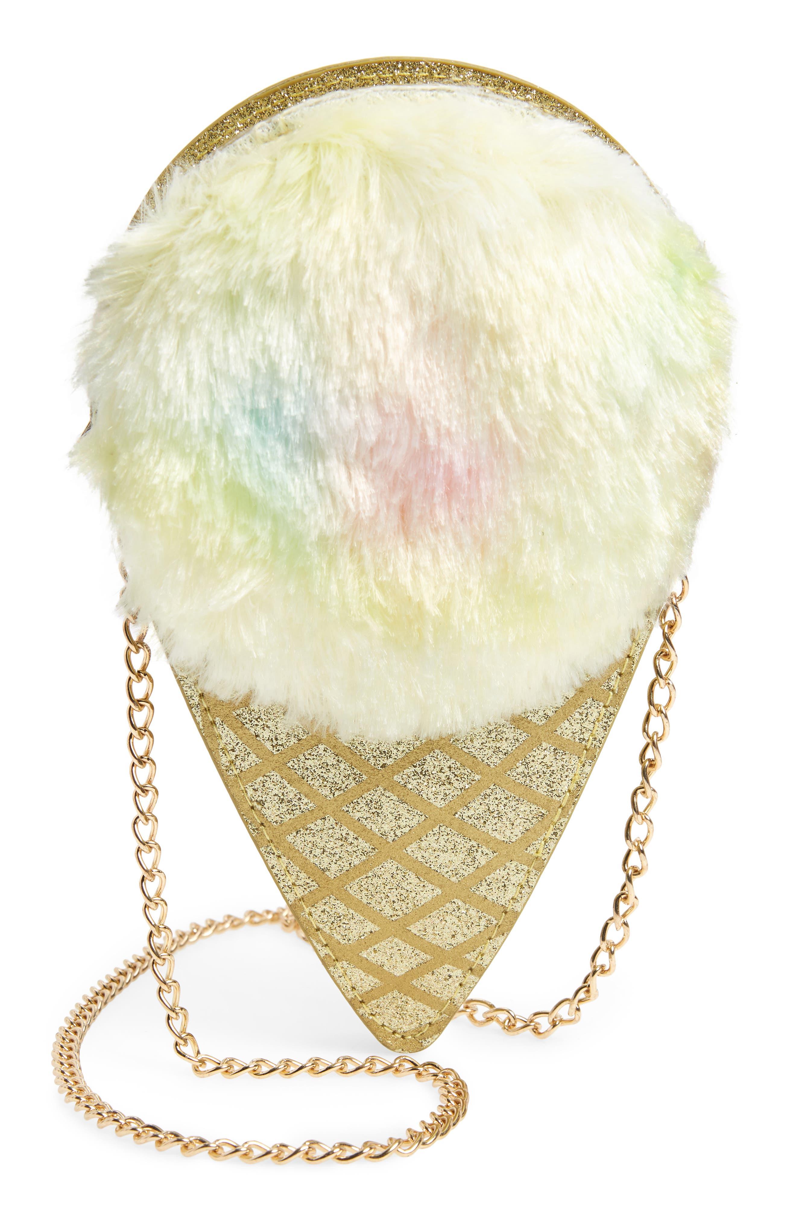 Girls Capelli New York Ice Cream Cone Crossbody Bag