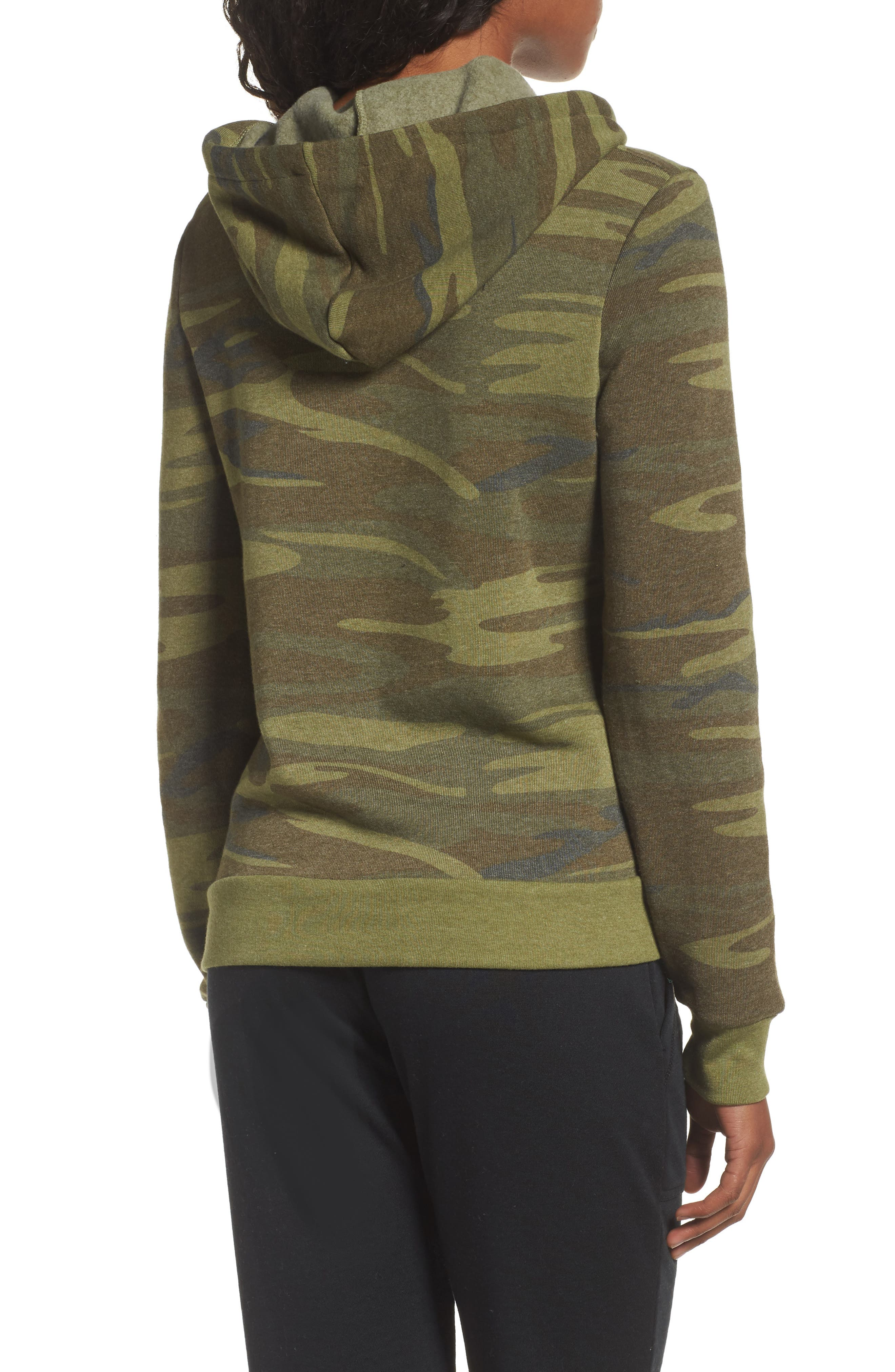 Camo Pullover Hoodie,                             Alternate thumbnail 2, color,                             300
