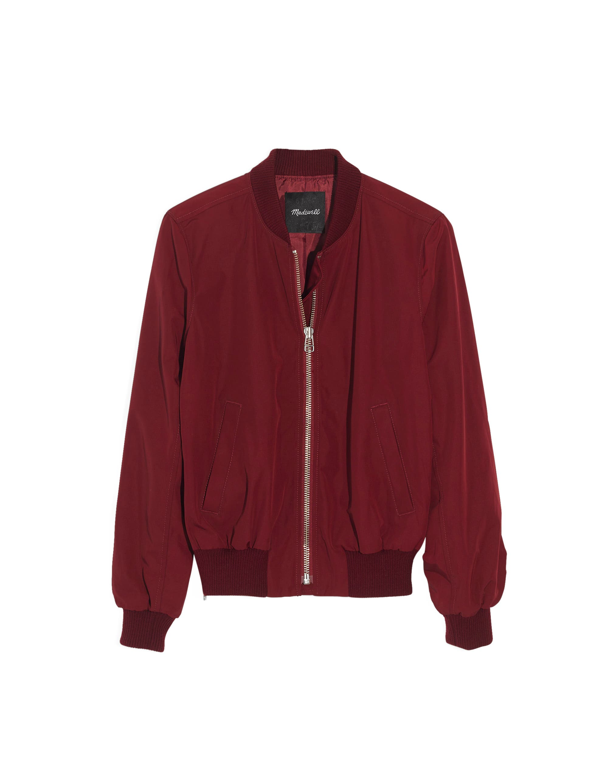 Side Zip Bomber Jacket,                             Alternate thumbnail 4, color,                             DUSTY BURGUNDY