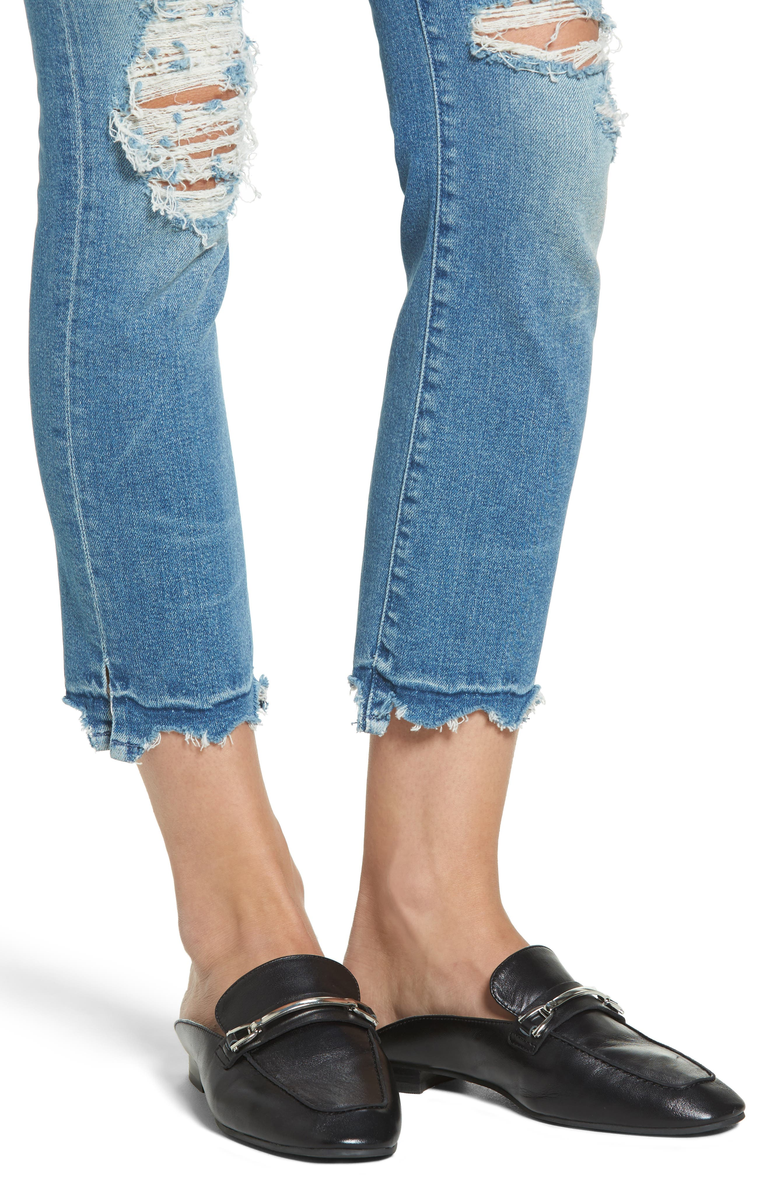 The Rascal High Waist Ankle Jeans,                             Alternate thumbnail 4, color,                             415