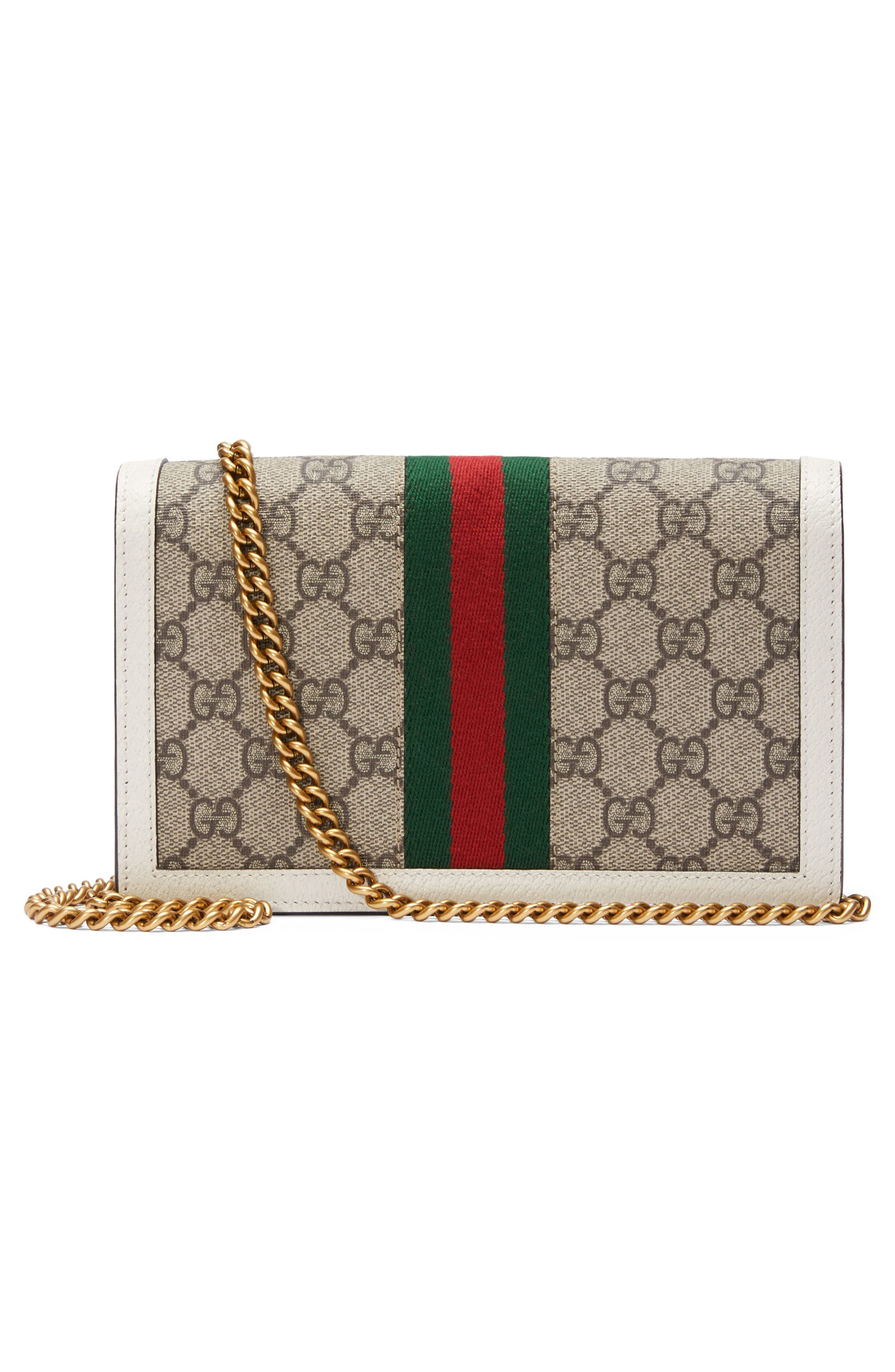 Queen Margaret GG Supreme Canvas Wallet on a Chain,                             Alternate thumbnail 2, color,                             250