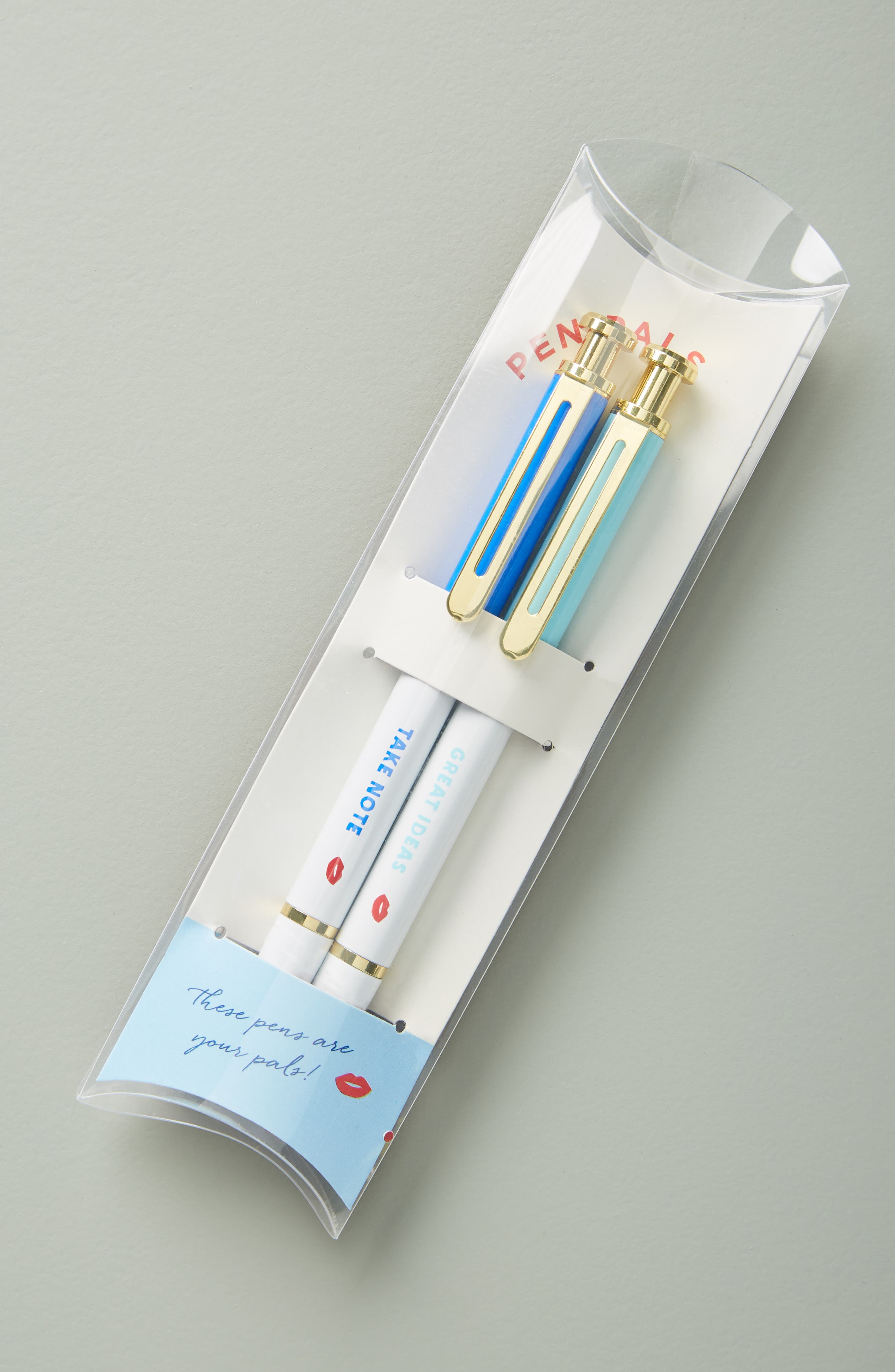 ANTHROPOLOGIE,                             Bisou Set of 2 Pens,                             Main thumbnail 1, color,                             RED