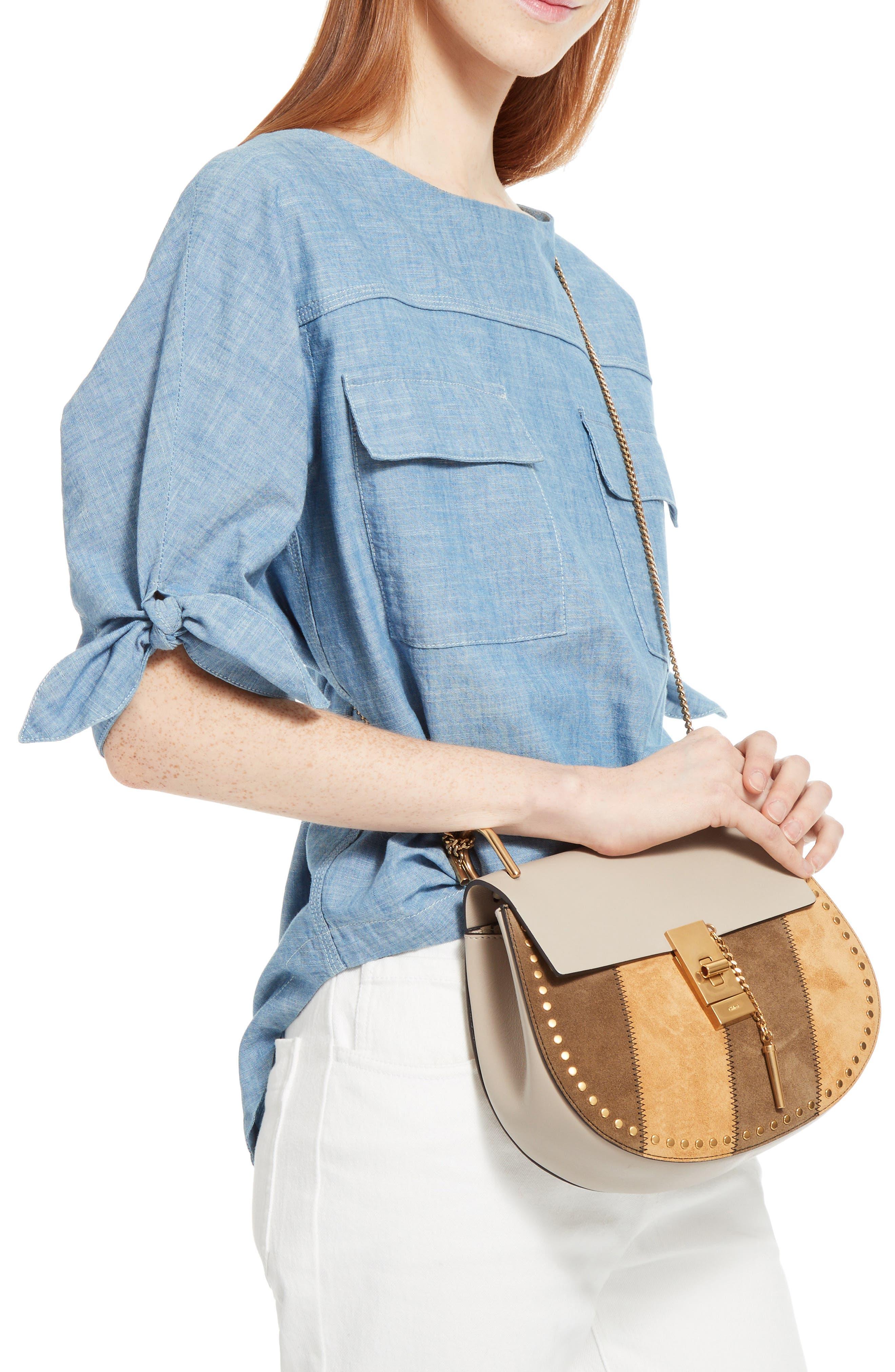 Small Drew Leather Shoulder Bag,                             Alternate thumbnail 2, color,                             052
