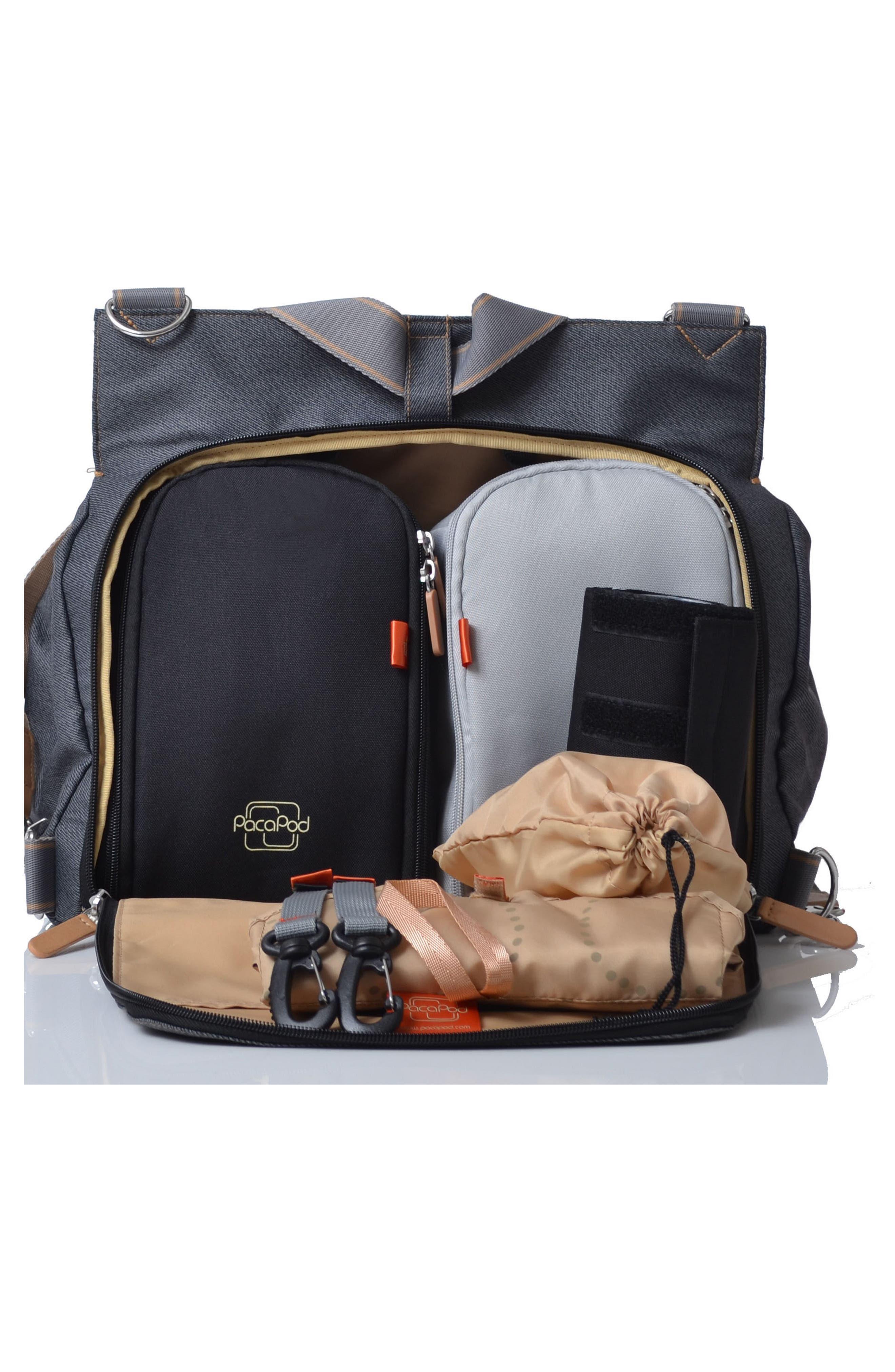 'Oban' Diaper Bag,                             Alternate thumbnail 3, color,                             BLACK CHARCOAL