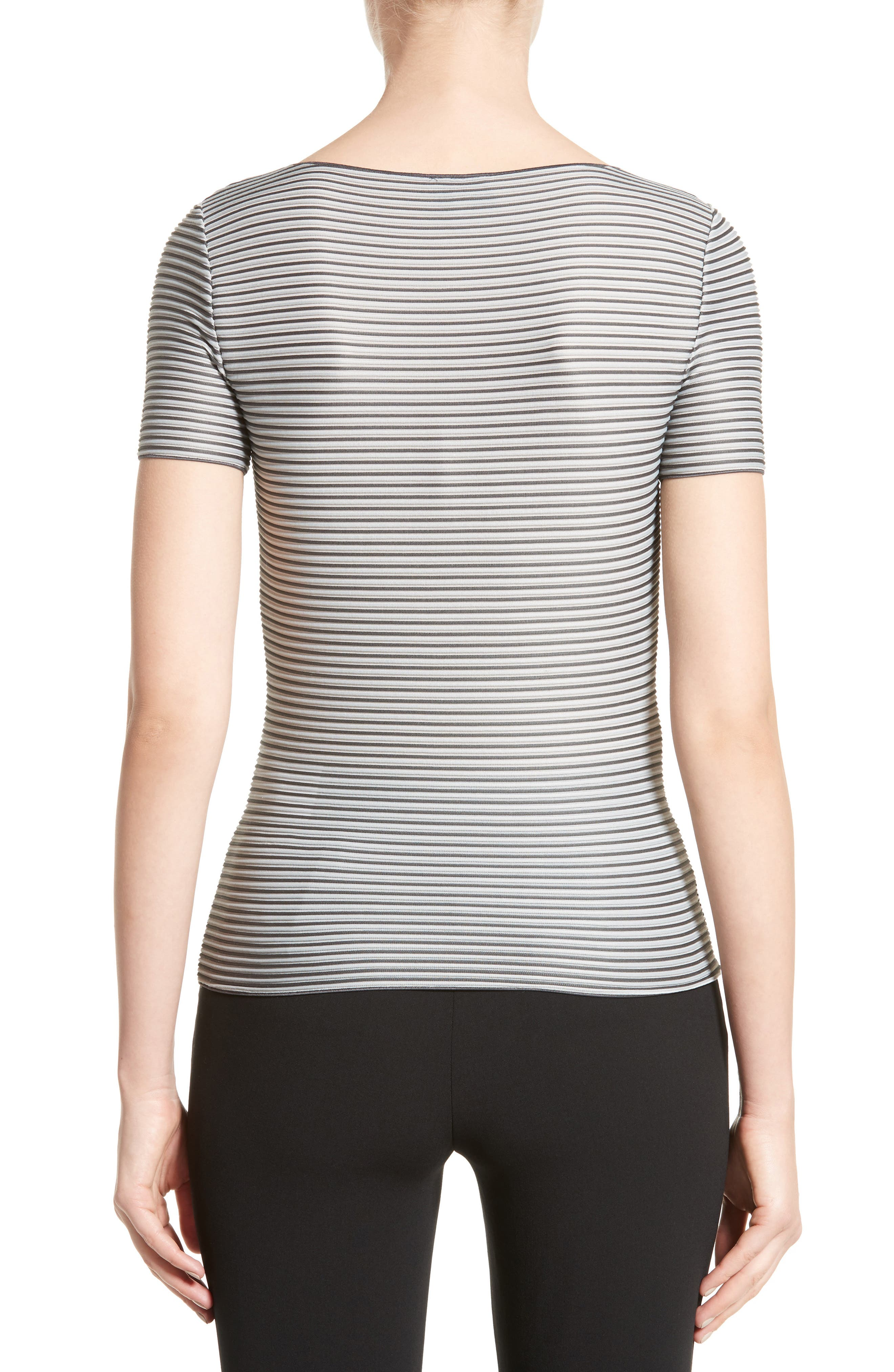 Striped Piped Jersey Tee,                             Alternate thumbnail 2, color,                             020