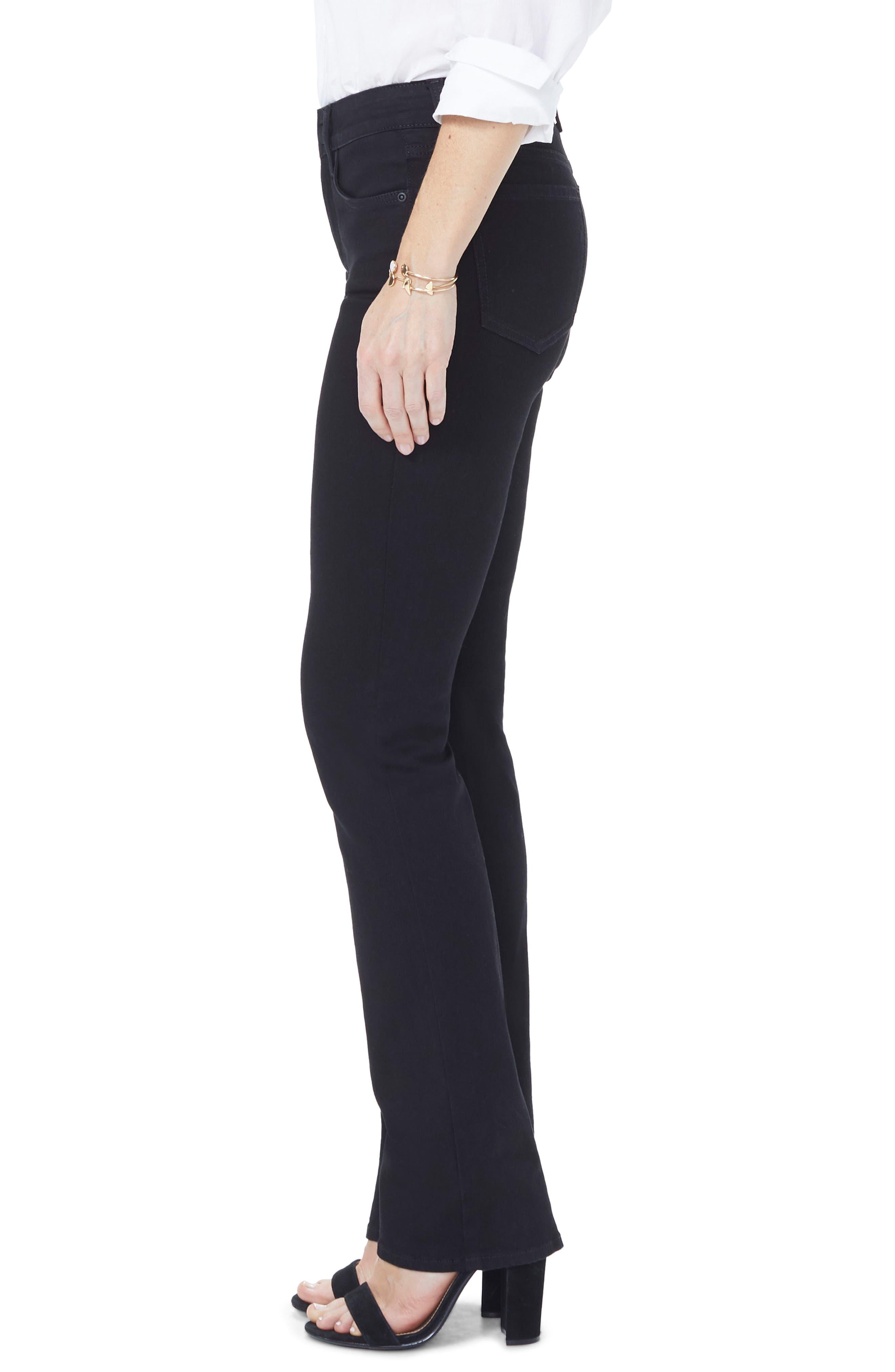 Marilyn High Waist Straight Jeans,                             Alternate thumbnail 3, color,                             BLACK