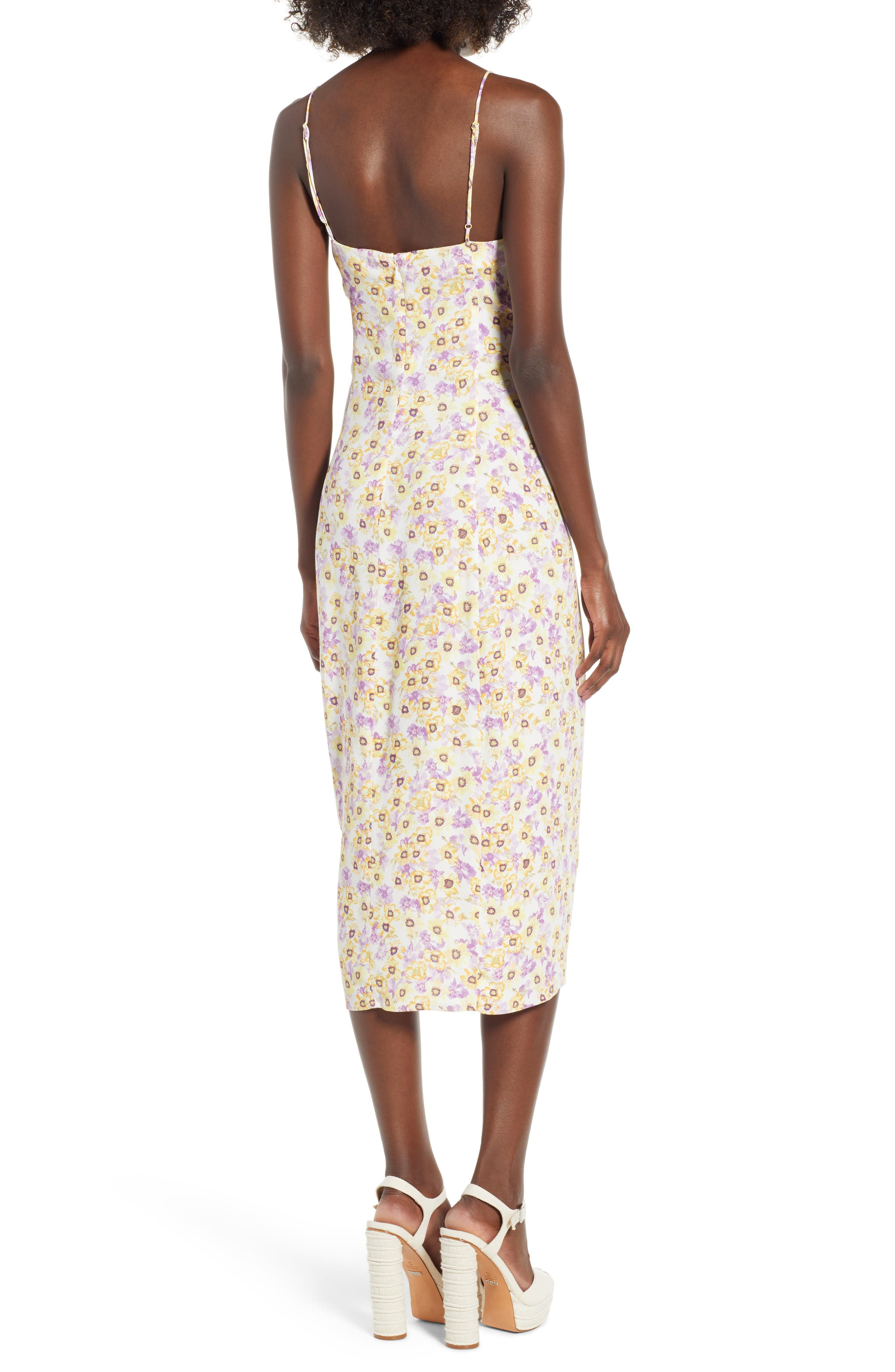 Favor Ruched Midi Dress,                             Alternate thumbnail 4, color,