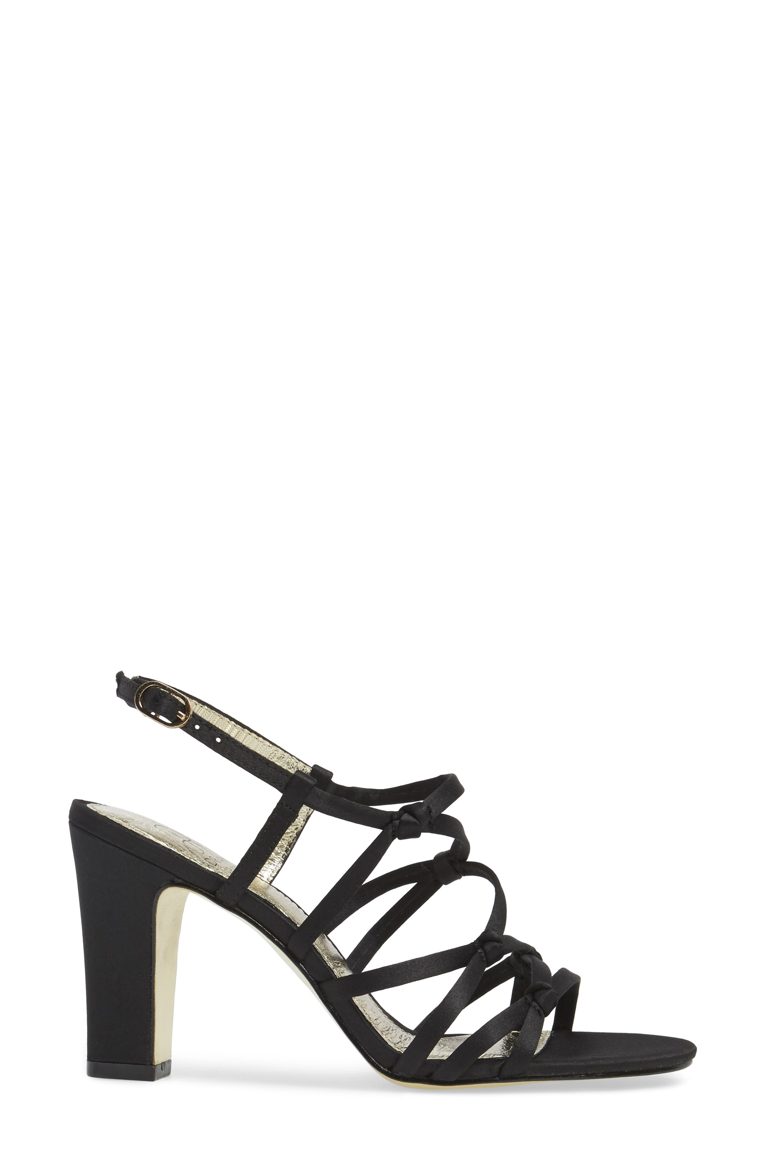 Adelson Knotted Strappy Sandal,                             Alternate thumbnail 3, color,                             001