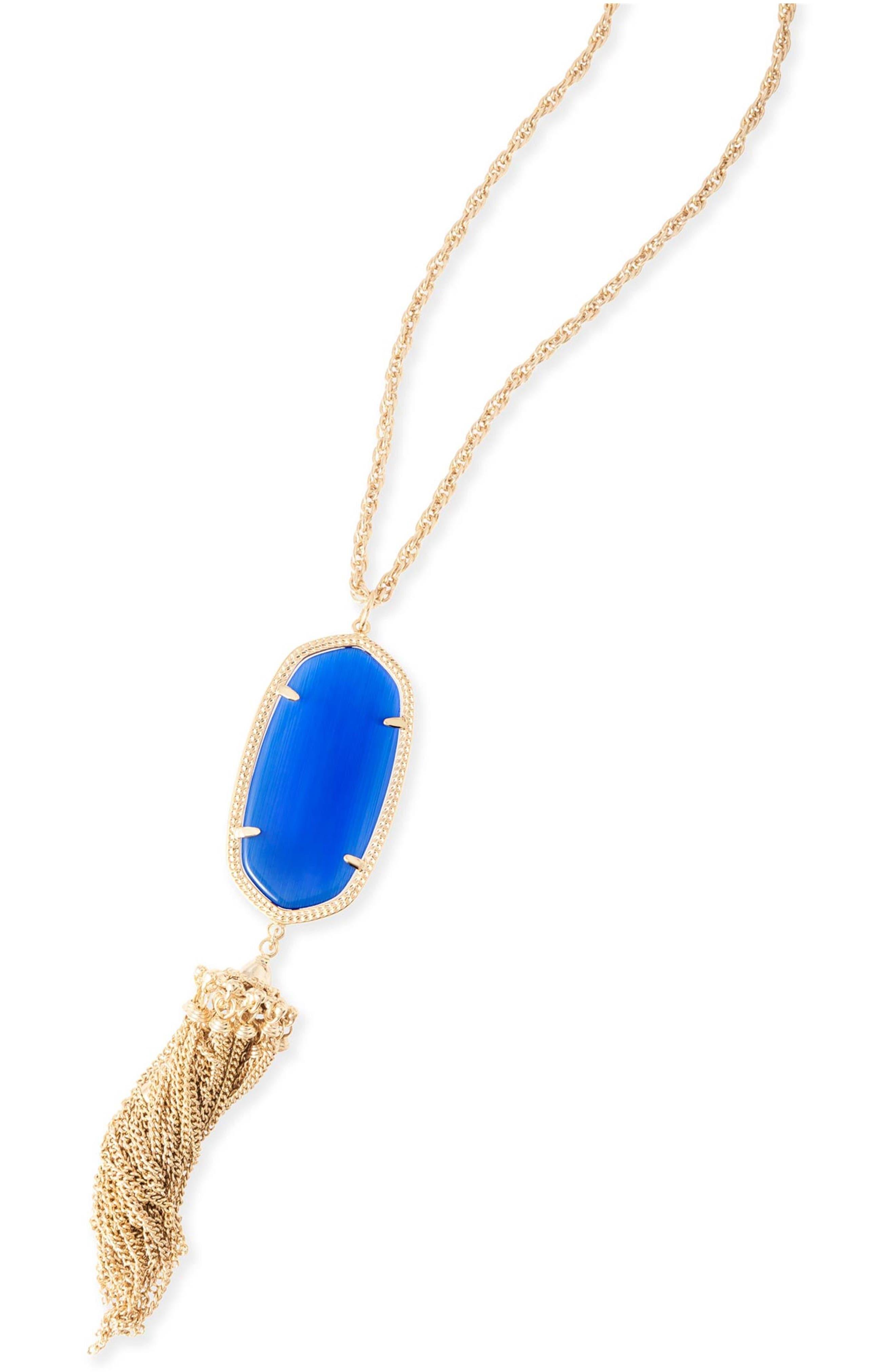Rayne Stone Tassel Pendant Necklace,                             Alternate thumbnail 166, color,