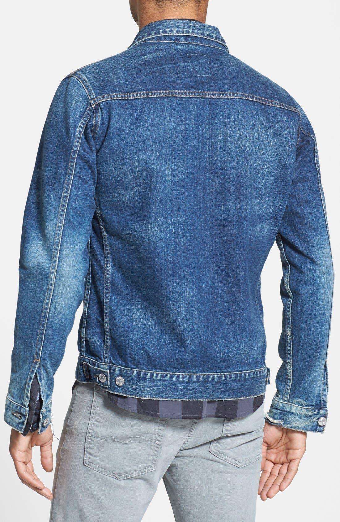 Classic Selvedge Denim Jacket,                             Alternate thumbnail 3, color,                             479