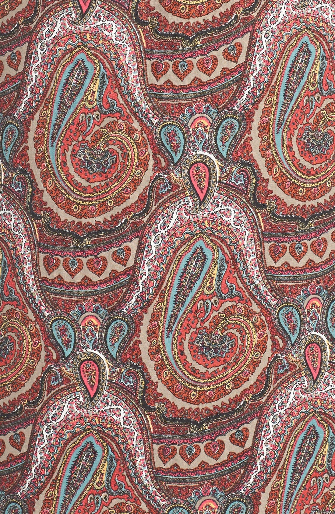 Paisley Print Maxi Dress,                             Alternate thumbnail 2, color,                             930